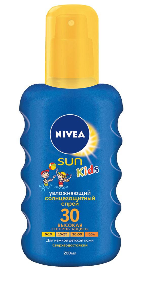 NIVEA Цветной Солнцезащитный спрей для детей СЗФ 30 200 млFS-00897Солнцезащитный детский спрей Nivea Sun защищает от солнечных ожогов, благодаря эффективной системе UVA/UVB фильтров. Зеленый оттенок, исчезающий после нанесения, помогает равномерно нанести средство, не оставляя незащищенных участков.Характеристики:Объем: 200 мл. Производитель: Испания. Артикул: 85403. Товар сертифицирован.