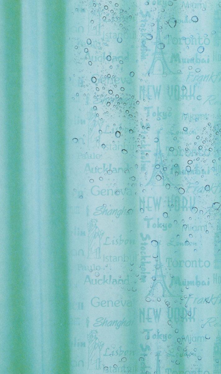 Штора для ванной комнаты White Fox Рисунок-невидимка, цвет: бирюзовый, 180 см х 200 см391602Штора для ванной комнаты White Fox Рисунок-невидимка выполнена из полиэстера с водоотталкивающей и антибактериальной пропиткой. В нижний край вшит утяжелитель змейка, который обладает большой гибкостью и не теряет своих свойств после стирки. Рисунок проявляется при контакте с водой. В комплекте прилагаются 12 фигурных пластиковых колец в форме С.Штора для ванной комнаты White Fox Рисунок-невидимка удобна и проста в уходе. Можно стирать при температуре не выше +30°C и гладить при температуре до +110°C.Штора для ванной комнаты является прекрасным украшением для ванной комнаты и надежной защитой от разбрызгивания воды.