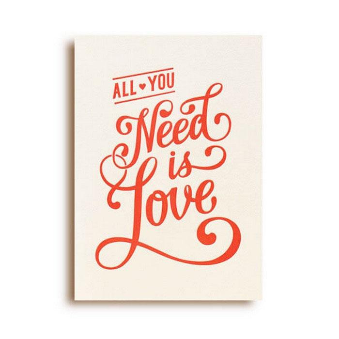 Открытка All You Need is Love. Автор Светлана ЛомакинаGC021.1
