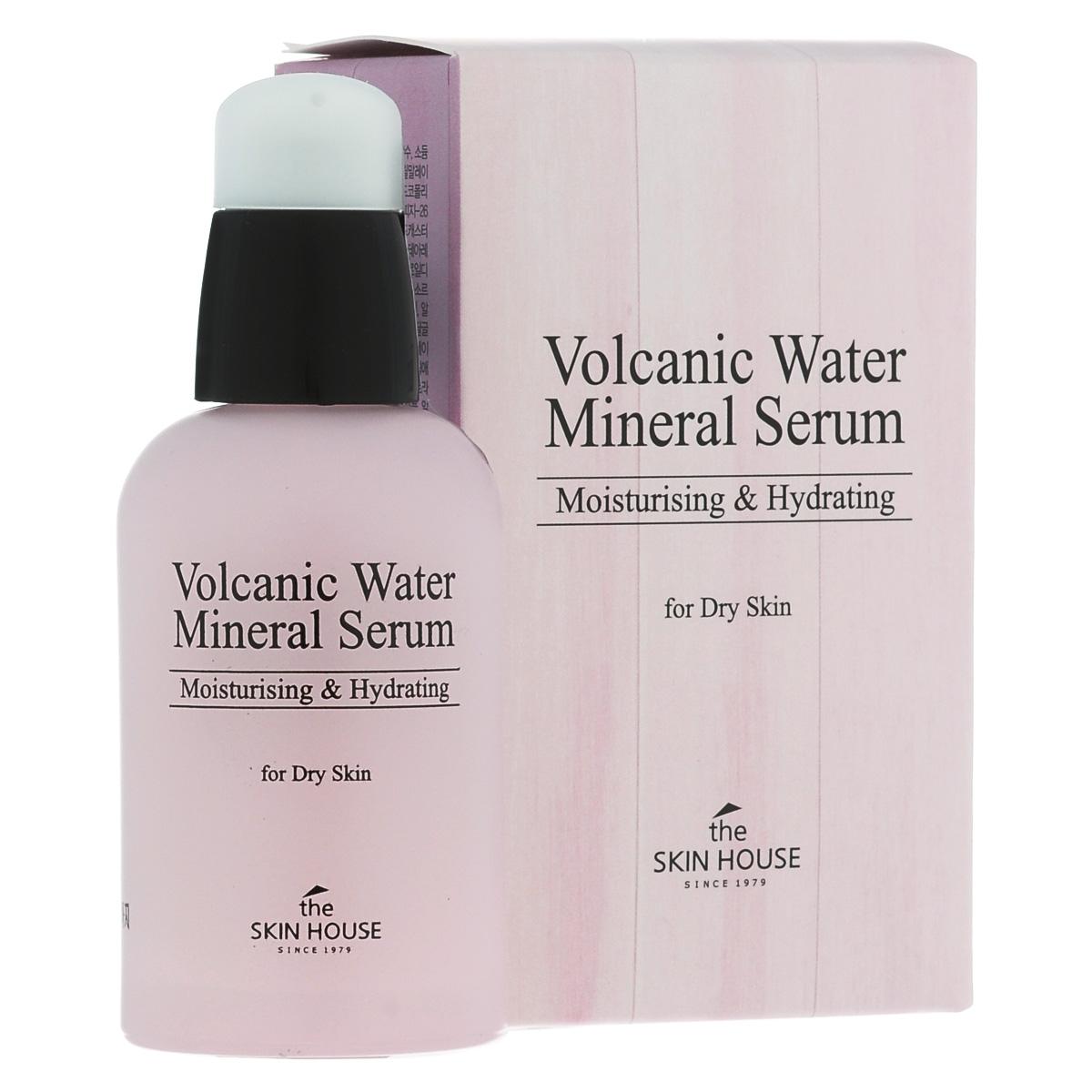 The Skin House Сыворотка для сухой кожи с минеральной вулканической водой, 50 млFS-00897Сыворотка на основе минеральной вулканической воды быстро, глубоко и интенсивно увлажняет кожу, тонизирует и питает ее полезными микроэлементами. Смягчает кожу и дарит ей здоровое сияние, а так же создает на ее поверхности защитный барьер, который препятствует потере влаги. Минеральная вулканическая вода, содержащаяся в сыворотке, отфильтрована естественными фильтрами горных пород острова Чеджу, которые входят в список всемирного наследия Юнеско. Всевозможные примеси в воде устраняются благодаря естественной фильтрации несколькими десяткам базальтовых пород, образовавшихся в результате вулканической активности, вода насыщается питательными минеральными веществами. Вулканическая вода содержит в 10~50 раз больше питательных и минеральных веществ больше, нежели обычная вода. , а так же в 2~3 раза больше минеральных веществ чем какая-либо другая вода из SPA источников.Кроме того, сыворотка содрежит такие компоненты, как коллаген и фильтрат секрета улитки: благодаря им, средство делает кожу эластичной, сужает поры и выравнивает текстуру.