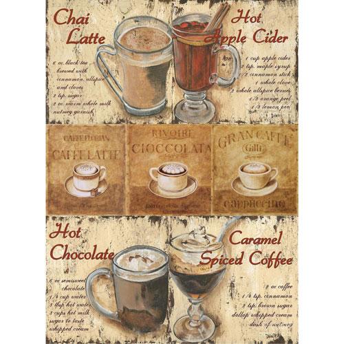 Рисовая бумага для декупажа Craft Premier Кофейня, 28 х 38 см craft premier 28 2 38 4