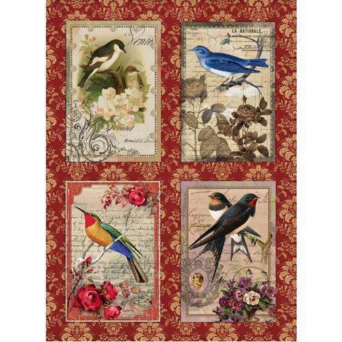 Рисовая бумага для декупажа Craft Premier Открытки с птицами, 28 х 38 см craft premier 28 2 38 4