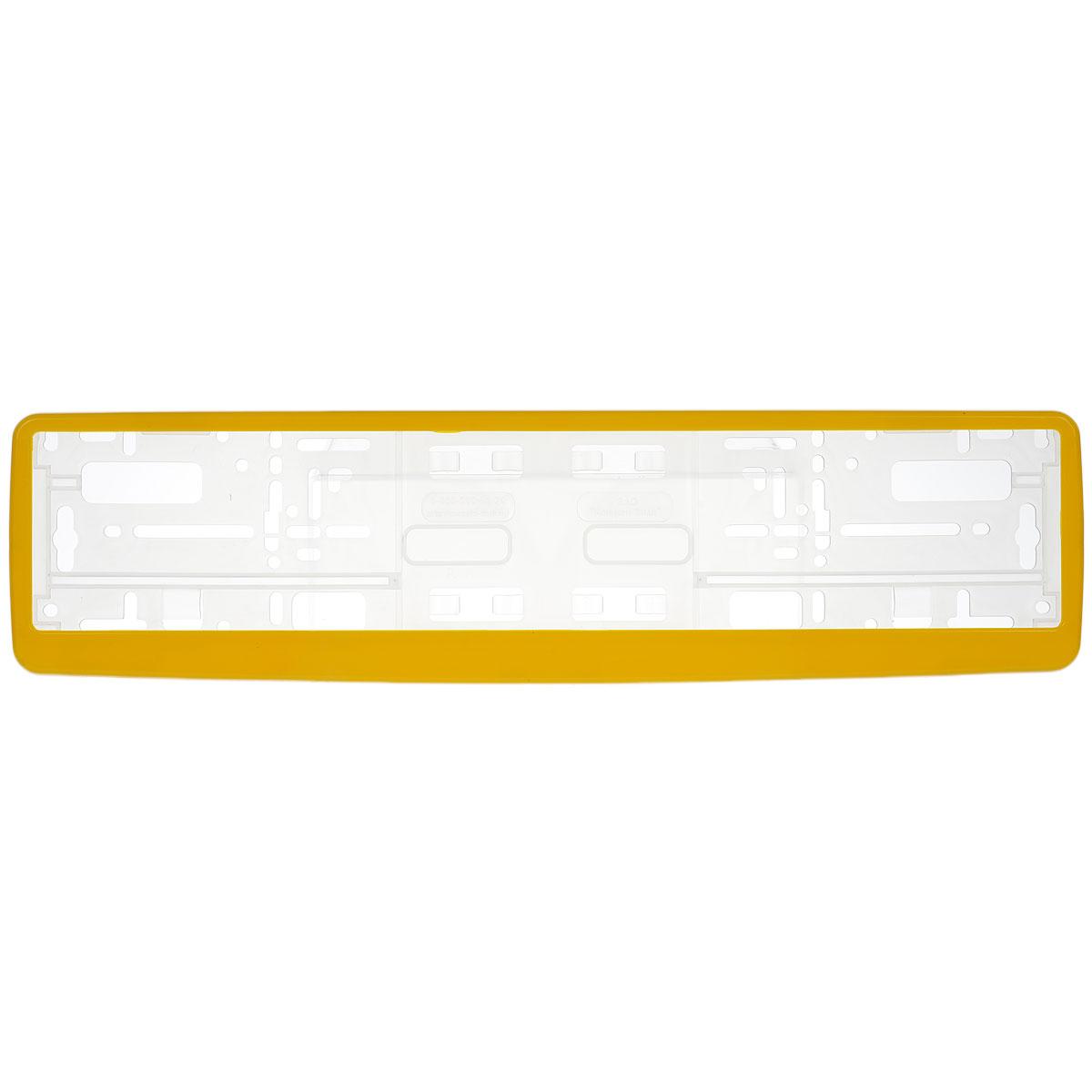 Рамка под номер Концерн Знак, цвет: желтыйCA-3505Рамка Концерн Знак не только закрепит регистрационный знак на вашем автомобиле, но и красиво его оформит. Основание рамки выполнено из полипропилена, материал лицевой панели - пластик.Она предназначена для крепления регистрационного знака российского и европейского образца. Устанавливается на все типы автомобилей. Крепления в комплект не входят.Стильный дизайн идеально впишется в экстерьер вашего автомобиля.Размер рамки: 53,5 см х 13,5 см. Размер регистрационного знака: 52,5 см х 11,5 см.