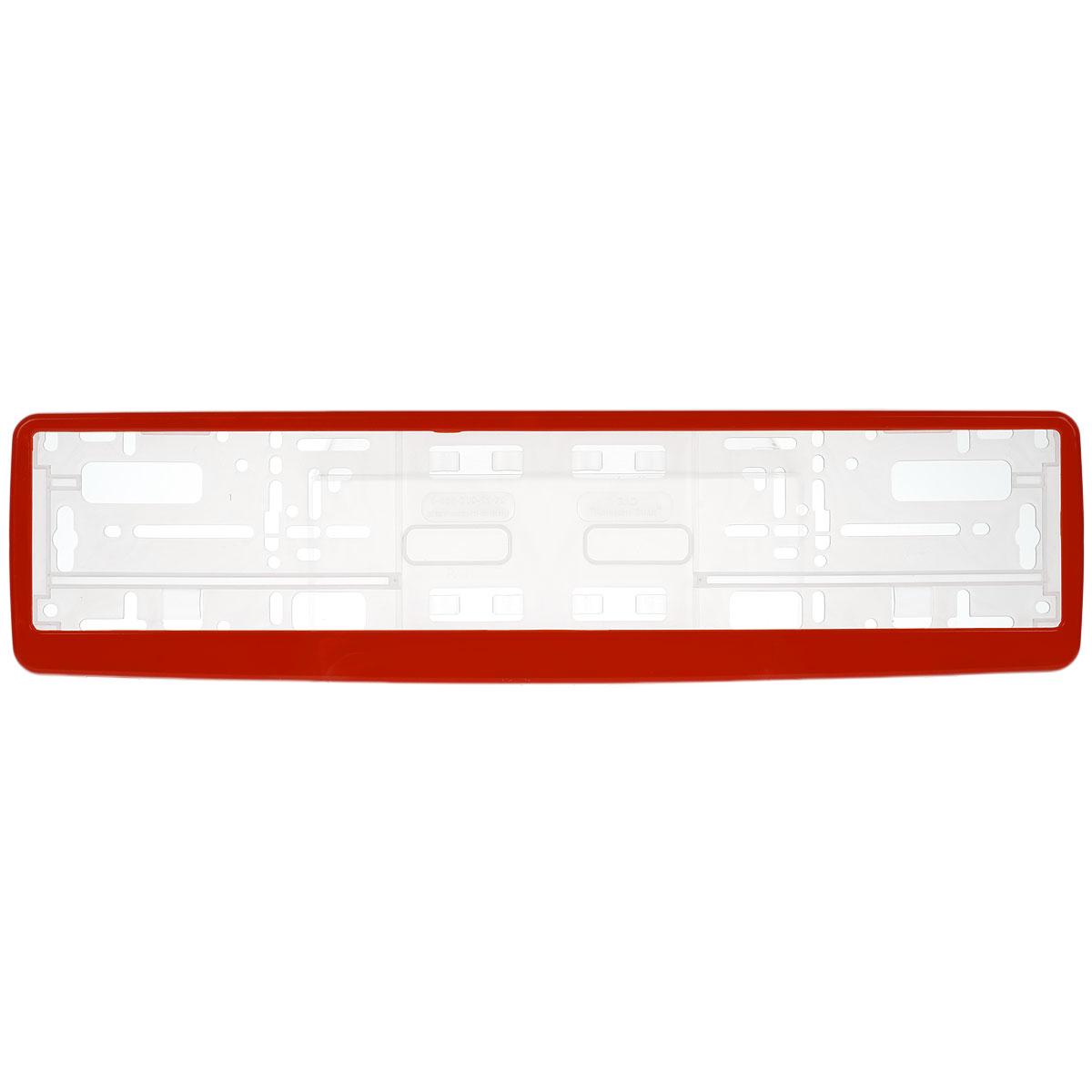 Рамка под номер Концерн Знак, цвет: красныйACL0006BРамка Концерн Знак не только закрепит регистрационный знак на вашем автомобиле, но и красиво его оформит. Основание рамки выполнено из полипропилена, материал лицевой панели - пластик.Она предназначена для крепления регистрационного знака российского и европейского образца. Устанавливается на все типы автомобилей. Крепления в комплект не входят.Стильный дизайн идеально впишется в экстерьер вашего автомобиля.Размер рамки: 53,5 см х 13,5 см. Размер регистрационного знака: 52,5 см х 11,5 см.