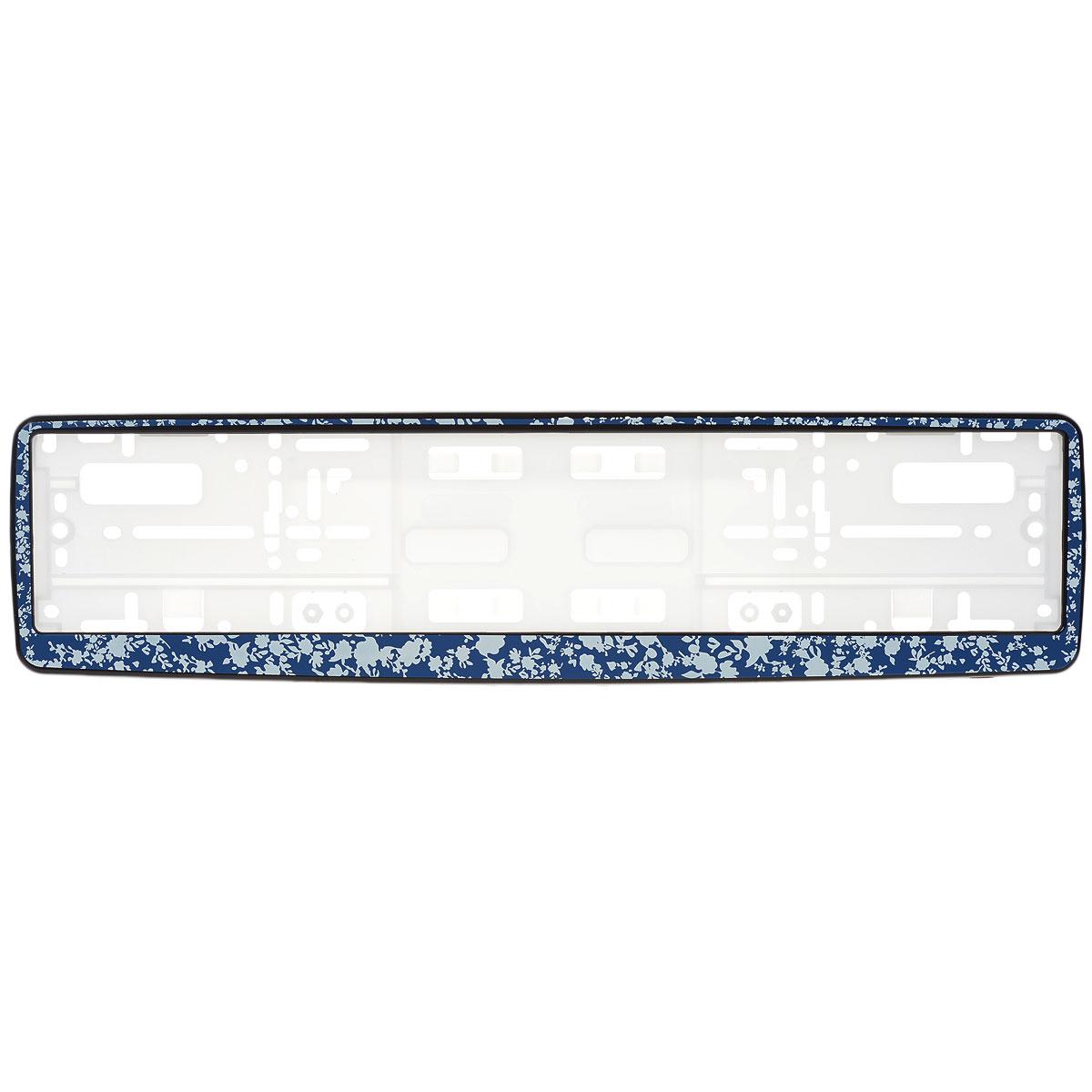 Рамка под номер Синие цветыВетерок 2ГФРамка Синие цветы не только закрепит регистрационный знак на вашем автомобиле, но и красиво его оформит. Основание рамки выполнено из полипропилена, материал лицевой панели - пластик.Она предназначена для крепления регистрационного знака российского и европейского образца, декорирована орнаментом. Устанавливается на все типы автомобилей. Крепления в комплект не входят.Стильный дизайн идеально впишется в экстерьер вашего автомобиля.Размер рамки: 53,5 см х 13,5 см. Размер регистрационного знака: 52,5 см х 11,5 см.