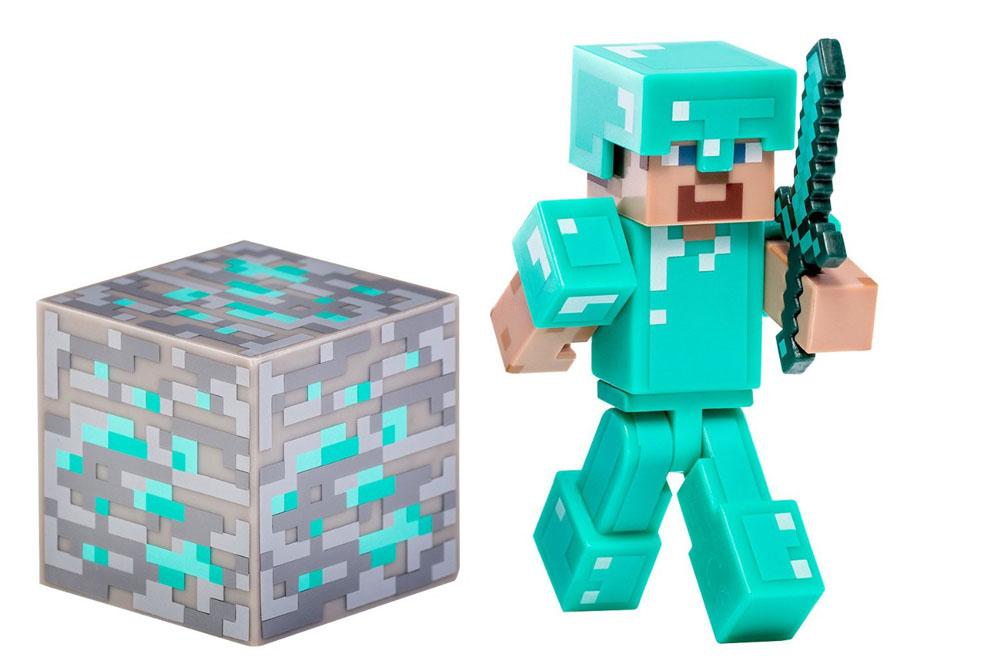 Фигурка Minecraft Стив в алмазной броне, с аксессуарами, 7 см led панели lg 47lv35a 5b