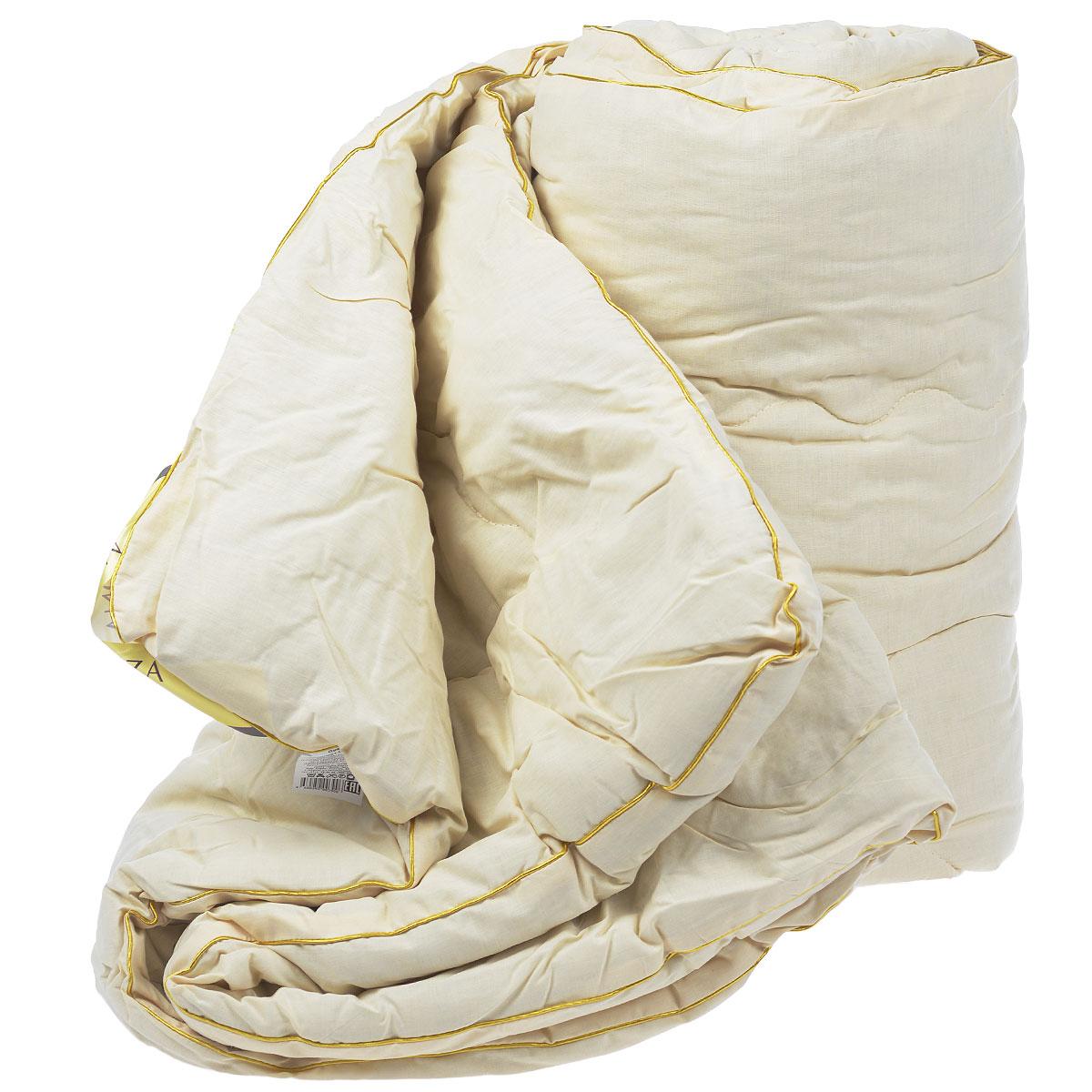 Одеяло Mona Liza, наполнитель: полиэстер, лен, цвет: слоновая кость, 195 см х 215 смNap200 (40)Одеяло Mona Liza подарит вам незабываемое чувство комфорта и умиротворения. Чехол выполнен на 80% из хлопка и на 20% из полиэстера цвета слоновой кости, украшен фигурной стежкой с золотой каймой. Внутри - наполнитель выполненный на 70% из полиэстера и на 30% из льна. Сверхтонкий наполнитель делает одеяло легким и воздушным, с отличной терморегуляцией, препятствует возникновению бактерий и образованию пылевого клеща. Кроме того, одеяло постоянно поддерживает нужную температуру: оно греет зимой и дает прохладу летом.Одеяло упаковано в прозрачную сумку-чехол на застежке-молнии. Торговая марка Mona Liza принадлежит крупнейшему в Европе и странах СНГ текстильному объединению Монолит, которое уже более 22 лет, с 1992 года, радует своих покупателей высоким качеством выпускаемой продукции. Материал чехла: хлопок, полиэстер. Наполнитель: полиэстер, лен. Плотность: 200 г/м2. Размер одеяла: 195 см х 215 см.