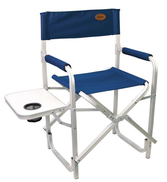 Кресло складное Canadian Camper CC-200AL, цвет: синий, 56 см х 50 см х 50/88 см31100068Складное кресло Canadian Camper CC-200AL отлично подойдет для комфортного отдыха на природе и на даче. Каркас кресла из алюминиевой трубы позволяет ему выдерживать большую нагрузку при небольшом собственном весе. Между передними и задними ножками закреплены поперечные трубы. Они обеспечивают дополнительную прочность, а также предохраняют кресло от проваливания в мягкую почву. Спинка и сидение выполнены из плотного полиэстера - материала, который не промокает и не выгорает под солнечными лучами. На жестких подлокотниках установлены мягкие накладки для комфортного расположения рук. Кресло оснащено откидным столиком с сетчатым подстаканником. Кресло очень удобно перевозить и хранить - оно занимает минимум места и выглядит как плоский пакет. Максимальная нагрузка: 120 кг. Размер кресла (в разобранном виде): 56 см х 50 см х 50/88 см. Размер кресла (в собранном виде): 51 см х 75 см х 8 см. Размер откидного столика: 35 см х 25 см.