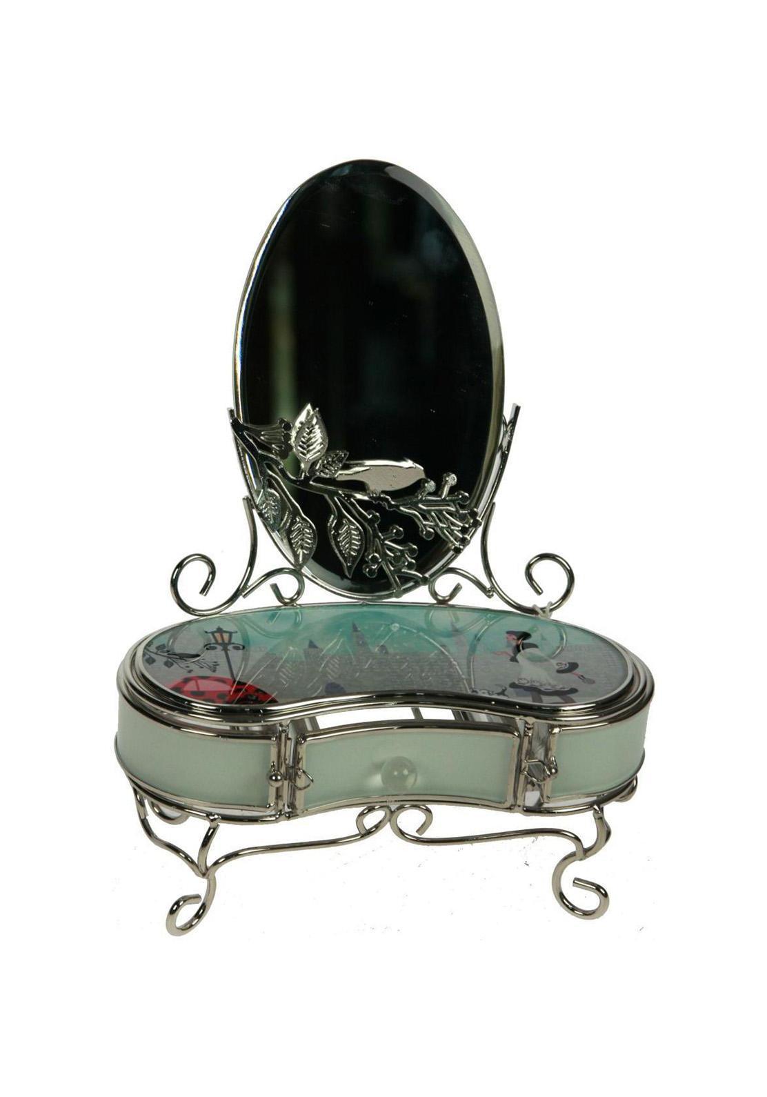 Шкатулка с зеркалом Модница564001Шкатулка Русские подарки Модница 78841 - это превосходный подарок любой женщине. Она выполнена из стекла, металла и акрила. Шкатулка сохранит ваши ювелирные изделия в первозданном виде, а также украсит комнату своим оригинальным дизайном. Материал: стекло, металл (железо, сплав олова), акрил; цвет: светло-зеленый