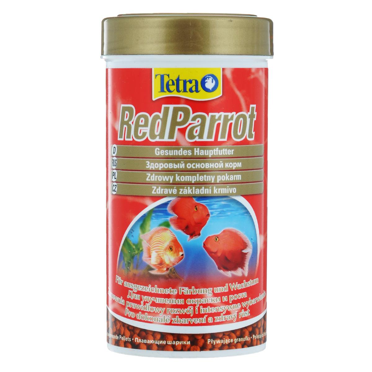 Корм сухой Tetra RedParrot, для красных попугаев, в виде шариков, 250 мл199019Tetra RedParrot - разработан специально для удовлетворения специфических потребностей красных попугаев в питании. Этот корм в виде шариков среднего размера особенно рекомендован большим красным попугаям. Особенности корма Tetra RedParrot: - содержит натуральные усилители цветовой окраски и выделения красных пигментов;- усиление окраски заметно уже через две недели при кормлении только Tetra RedParrot;- оптимальная рецептура обеспечивает хорошую усваиваемость и улучшение роста;- произведено в Германии, строгий контроль качества в соответствии с нормами ISO 9001 гарантируют здоровое питание. Рекомендации по кормлению: кормить несколько раз в день маленькими порциями. Характеристики: Состав: зерновые культуры, экстракты растительного белка, рыба и побочные рыбные продукты, дрожжи, моллюски и раки, масла и жиры, минеральные вещества, водоросли.Пищевая ценность: сырой белок - 42%, сырые масла и жиры - 8%, сырая клетчатка - 2%, влага - 9%.Добавки: витамин А 29460 МЕ/кг, витамин Д3 1840 МЕ/кг, Е5 марганец 100 мг/кг, Е6 цинк 61 мг/кг, Е1 железо 40 мг/кг, Е3 кобальт 0,7 мг/кг. Красители, антиоксиданты.Вес: 250 мл (110 г).