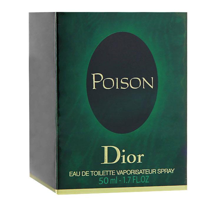 Christian Dior Poison. Туалетная вода, женская, 50мл1301210Событие в мире парфюмерии. Запретное искушение в легендарном восхитительном аромате Christian Dior Poison. Смелый и провоцирующий, загадочный, полный тайн. Запретное искушение, которое никого не оставит равнодушным. Невероятный цветочно-пряный и амбровый аромат. Poison в переводе с французского - это Яд, ароматный яд для сердца, яд покорения и соблазнения... Классификация аромата: амбровый, пряный, цветочный.Верхние ноты: кориандр, слива, стручковый перец, анис.Ноты сердца:тубероза, корица, гвоздика, роза.Ноты шлейфа:сандал, мускус, янтарь.Ключевые слова:Пьянящий, яркий, будоражащий, влекущий, завораживающий! Характеристики:Объем: 50 мл. Производитель: Франция. Туалетная вода - один из самых популярных видов парфюмерной продукции. Туалетная вода содержит 4-10%парфюмерного экстракта. Главные достоинства данного типа продукции заключаются в доступной цене, разнообразии форматов (как правило, 30, 50, 75, 100 мл), удобстве использования (чаще всего - спрей). Идеальна для дневного использования. Товар сертифицирован.