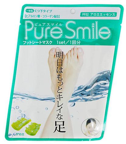 Pure Smile Питательная маска для ступней с эссенцией алоэ 18гFS-00897Питательная маска для ступней с эссенцией алоэ PURE SMILE - это необходимый уход за достаточно проблемным участком кожи.Компоненты маски окажут интенсивное питание и увлажнение, осветлят и разгладят кожу ступней. Коллаген и гиалуроновая кислота, окажут мощное увлажняющее действие, вернут кожу плотность и упругость. Эссенция алоэ стимулирует клеточный обмен, нормализует секрецию жировых желез, тонизирует кожу, улучшает ее эластичность и способствует омоложению, препятствует огрубению кожи. Кипарисовая вода, препятствует появлению неприятных запахов, обладает дезодорирующим эффектом.