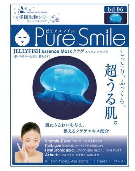 Pure Smile Регенерирующая маска для лица Living Essences с эссенцией медузы 23мл.1118Еженедельный уход - это неотъемлемая процедура для полноценного ухода за кожей лица.Необходимо каждую неделю использовать различные маски.Преимущество нужно отдать увлажняющим, питательным, и маскам для повышения упругости кожи. Все эти функции вы найдете в линии PURE SMILE.Эти маски - настоящие волшебные палочки, способные моментально преобразить вашу кожу. Ведь сыворотка, которая используется для пропитки маски, имеет тройную концентрацию активных компонентов.За короткое время воздействия, маска отдает всю силу полезных ингредиентов вашей коже.Коллаген в составе сыворотки наполняет кожу влагой, восстанавливает плотность и упругость кожи.Эссенция медузы способствует регенерации кожи, укрепляет контур лица, выводит лишнюю воду и токсины, делая контур лица более четким, а тон - ровным.Эссенция медузы насыщает кожу необходимыми минералами и микроэлементами.
