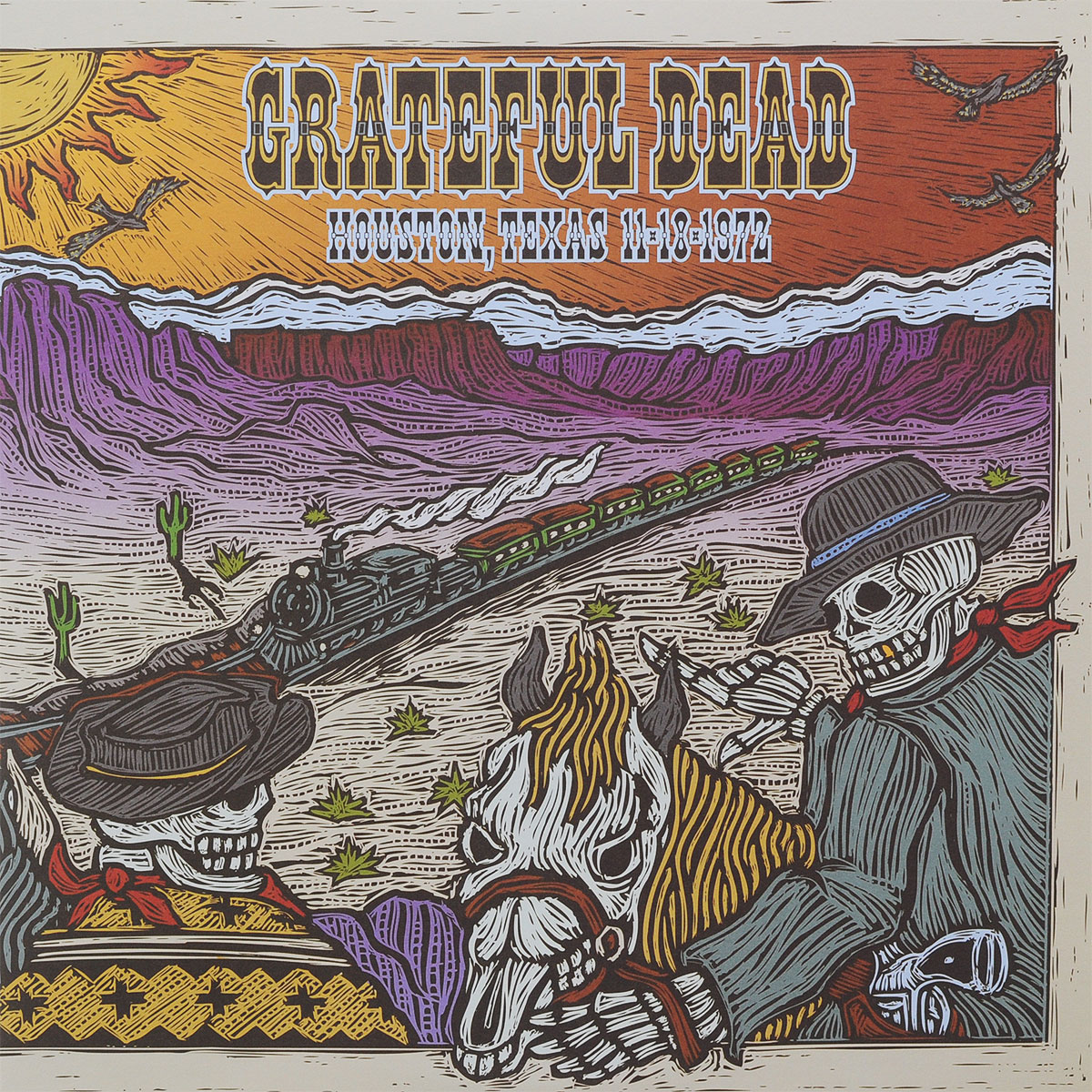 The Grateful Dead Grateful Dead. Houston, Texas. 11-18-1972 (2 LP) grateful dead grateful dead wake up to find out nassau coliseum uniondale ny 3 29 90 5 lp