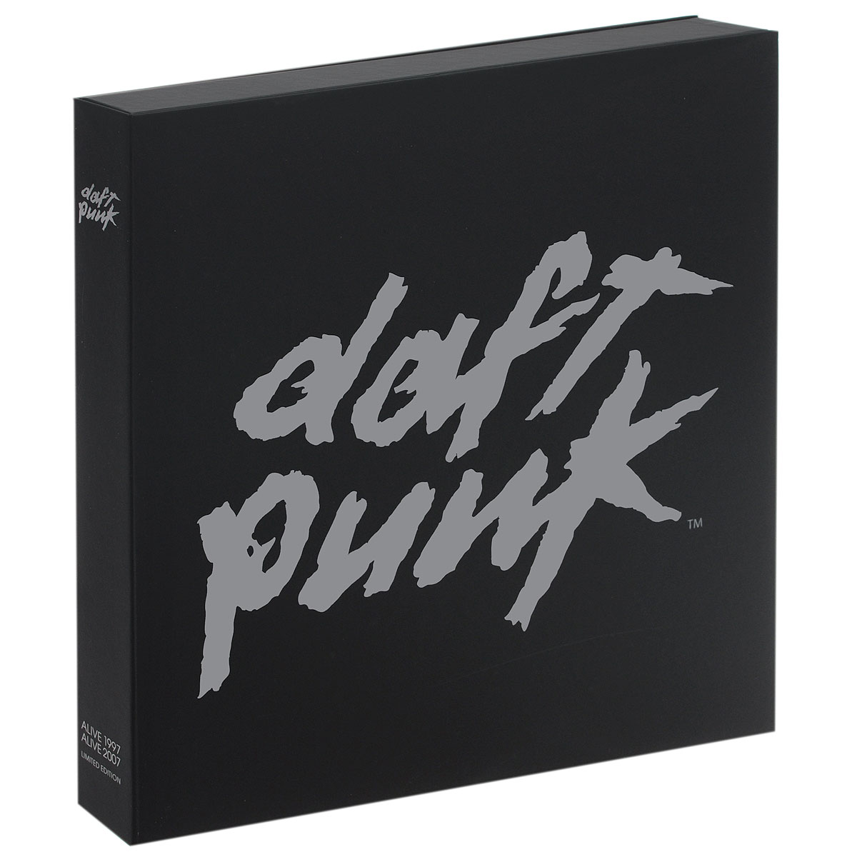 Содержание: LP 1: Daft Punk. Alive 2007 LP 1 - Side 1   01. Robot Rock / Oh Yeah02. Touch It / Technologic03. Television Rules The Nation / Crescendolls LP 1 - Side 2   01. Too Long / Steam Machine02. Around The World / Harder Better Faster Stronger03. Burnin' / Too LongLP 2: Daft Punk. Alive 2007 LP 2 - Side 1   01. Face To Face / Short Circuit02. One More Time / Aerodynamic03. Aerodynamic Beats / Gabrielle , Forget About The World LP 2 - Side 2   01. Prime Time Of Your Life / Brainwasher /Rollin 'and Scratchin' / Alive02. Da Funk / Dadftendirekt03. Superheroes / Human After All / Rock'n RollПластинки выполнены в белом цвете. LP 3: Daft Punk. Alive 1997 LP 3 - Side 1   01. WDPK (Part I) 02. Da Funk LP 3 - Side 2   01. Rollin' And Scratchin'02. WDPK (Part II) 03. AliveПластика выполнена в белом цвете. LP 3: Daft Punk. Alive 2007 BonusRecorded in 1997 in Birmingham during their first European tour, a few months after the release of 'Homework', this first live testimony was released in 2001.45 minutes of non-stop live mixing, featuring the band's first standard tracks (Da Funk, Rollin' & Scratchin'...) along with those techno-electronic explosions unique to Daft Punk IПластика выполнена в сером цвете.