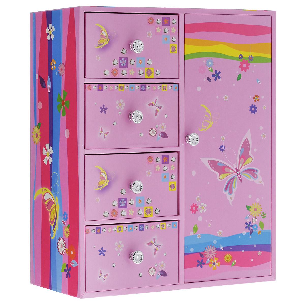 Шкатулка Jakos  Бабочки , цвет: розовый -  Предметы интерьера