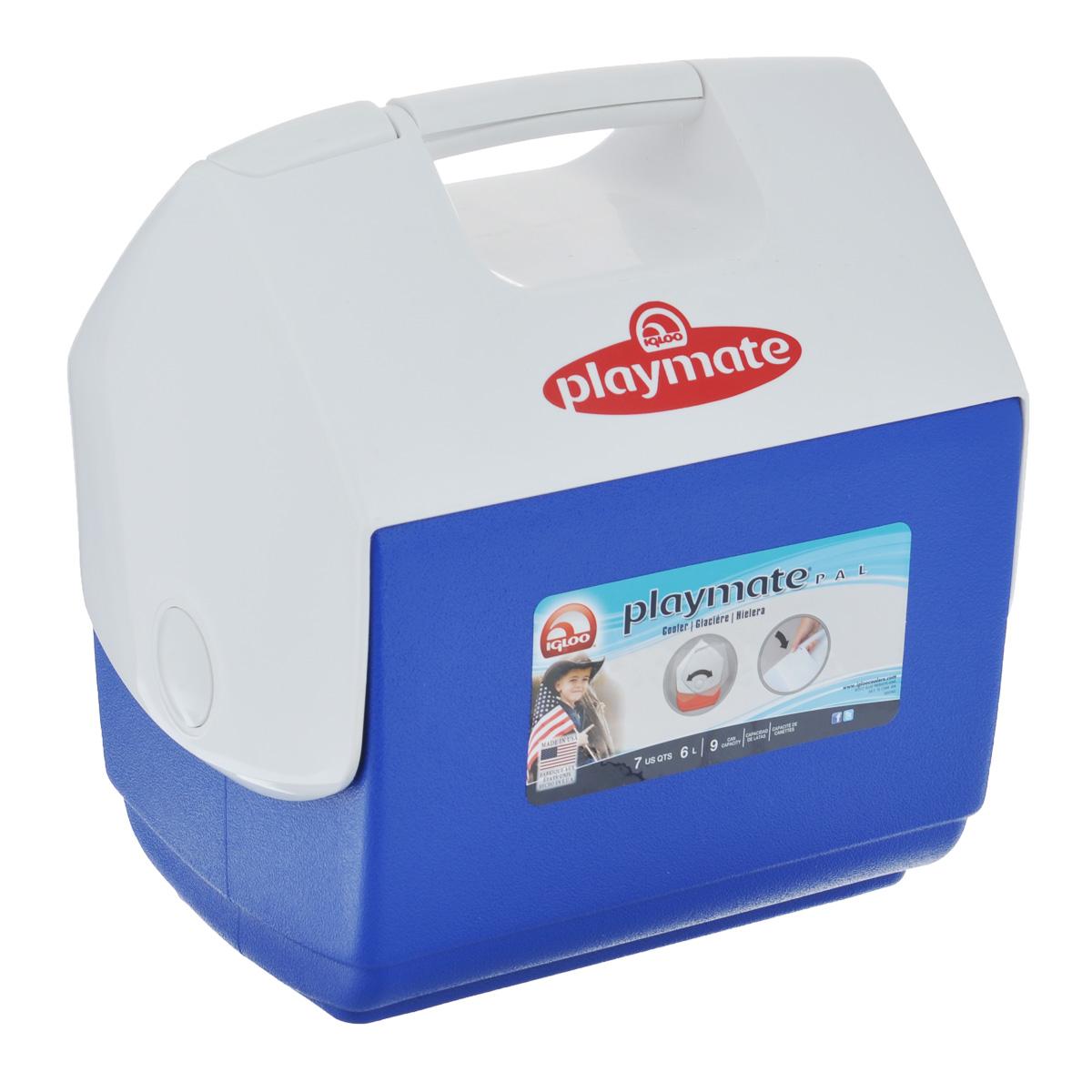 Изотермический контейнер Igloo Playmate Pal, цвет: синий, 6 л10503Легкий и прочный изотермический контейнер Igloo Playmate Pal, изготовленный из высококачественного пластика, предназначен для транспортировки и хранения продуктов и напитков. Для поддержания температуры использовать с аккумуляторами холода.Особенности изотермического контейнера Igloo Playmate Pal: - оригинальный замок на верхней крышки Playmate-Realise для открывания одной рукой;- крышка распахивается, обеспечивая легкий доступ к содержимому; - фирменный дизайн Playmate; - защелка надежно фиксирует крышку; - UltraTherm изоляция корпуса и крышки сохраняет содержимое холодным; - эргономичный гладкий дизайн корпуса;- экологически чистые материалы. Размер контейнера: 27 см х 21 см х 29,5 см.Объем контейнера: 6 л.