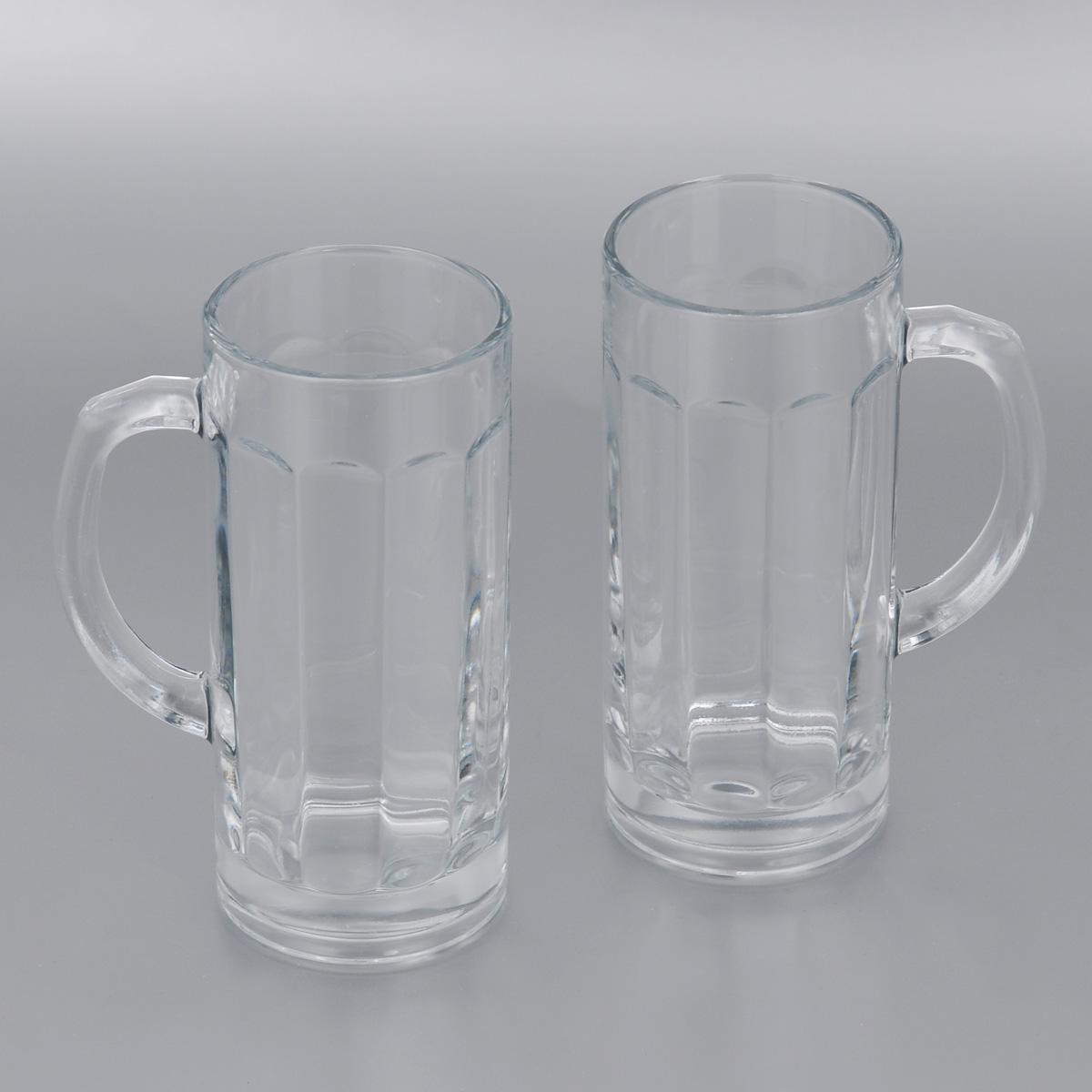 Набор пивных кружек Pasabahce Pub, 380 мл, 2 шт. 55109B115510Набор Pasabahce Pub состоит из двух пивных кружек, выполненных из прочного натрий-кальций-силикатного стекла. Внутри изделия оснащены рельефной многогранной поверхностью. Кружки оснащены удобными ручками и утолщенным дном. Такой набор прекрасно подойдет для любителей пенного напитка.Можно мыть в посудомоечной машине и использовать в микроволновой печи.Высота кружки: 16,5 см.Диаметр кружки (по верхнему краю): 7 см. 380 мл
