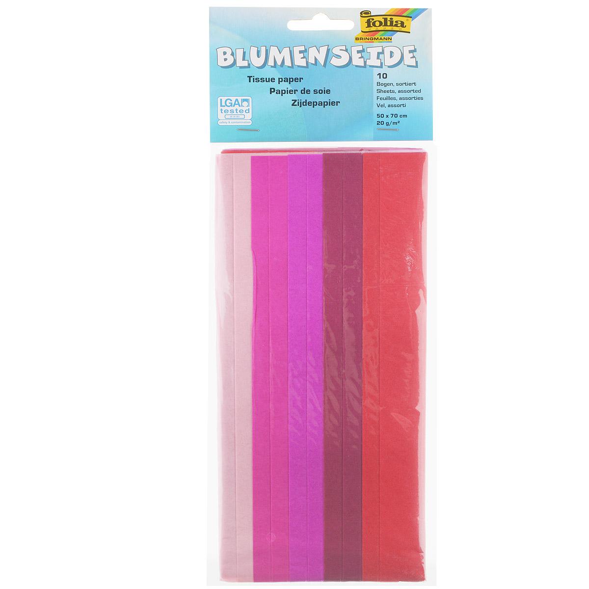Бумага папиросная Folia, 50 см х 70 см, 10 листов. 7708130 креповая или папиросная бумага или тонкая упаковочная бумага купить томск
