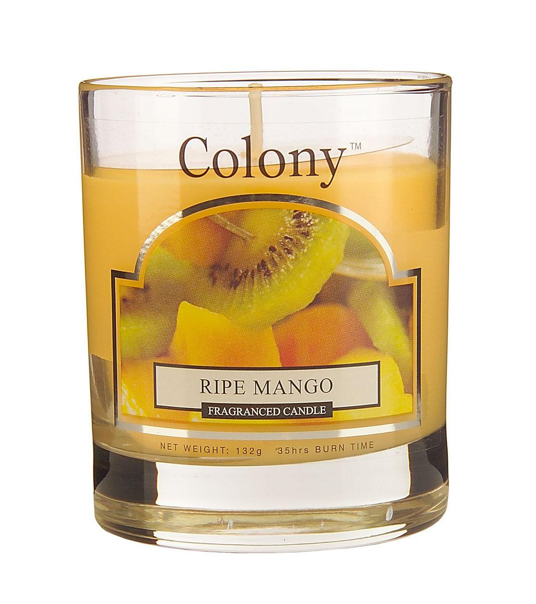 Wax Lyrical Спелый манго ароматизированная свеча в стекле малая, 35 часов7MDFAСочный фруктовый аромат спелых фруктов: экзотического манго, персиков, арбуза