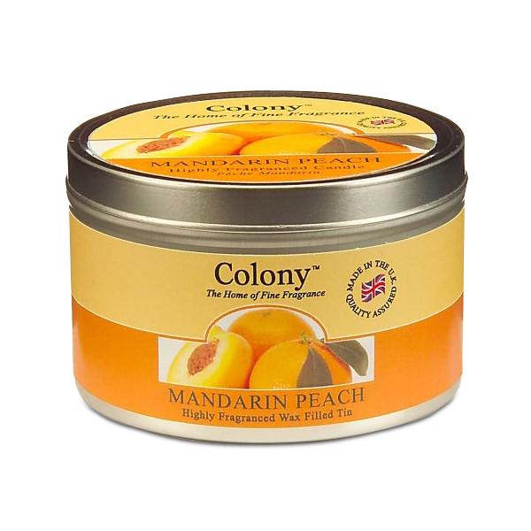 Wax Lyrical Мандарин и персик ароматизированная свеча в алюминии, 30 часов12723Бодрящий аромат спелого персика и сладкого мандарина