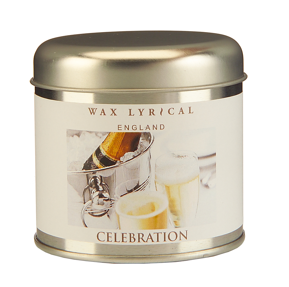 Wax Lyrical Торжество ароматическая свеча в алюминии, 35 часов41619Создающий праздничное настроение аромат игристого вина с нотками зеленого яблока и груши на основе мускуса
