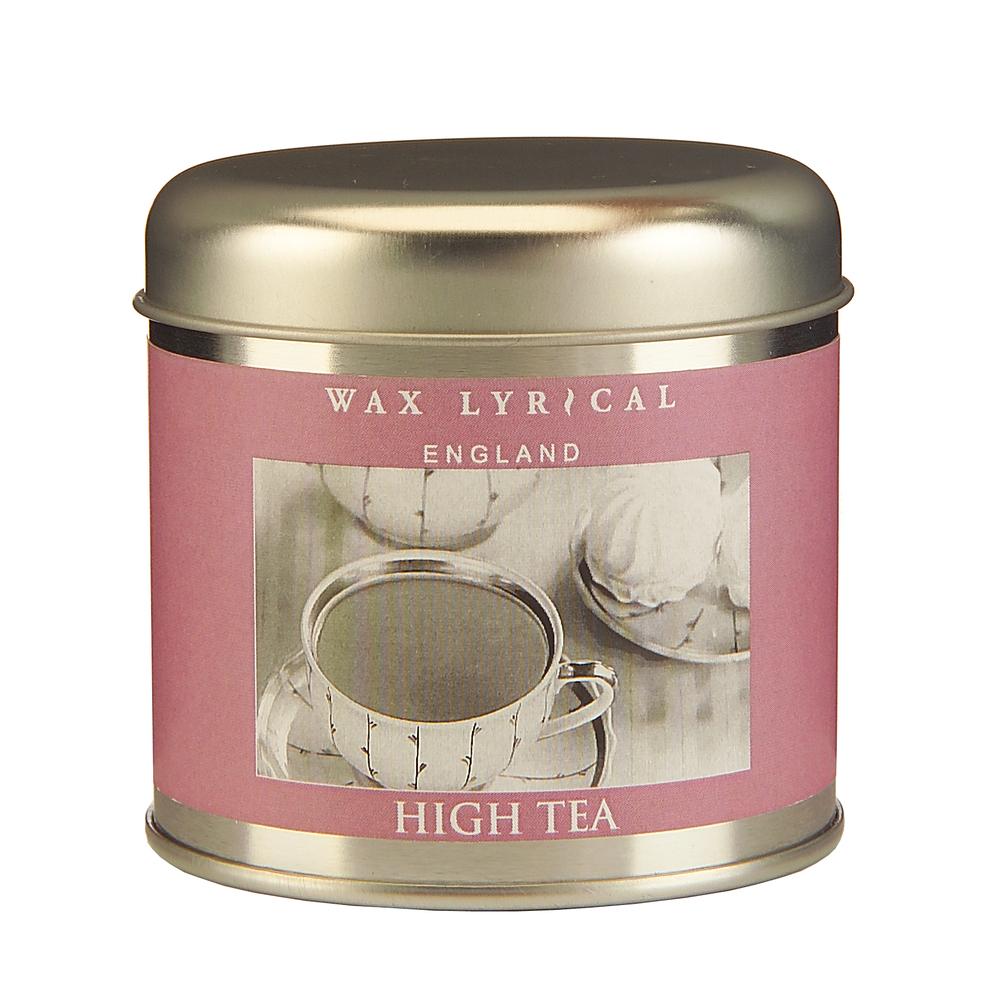 Wax Lyrical Чаепитие ароматическая свеча в алюминии, 35 часов706019Аромат английского лакомства: миндального бисквитного печенья,со сладким чаем с бергамотом