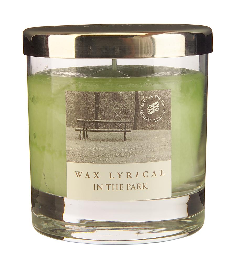 Wax Lyrical Прогулка в парке ароматическая свеча в стекле средняя, 50 часовES-412Нежный и спокойный аромат полевых цветов и молодой зелени. Уважаемые клиенты! Обращаем ваше внимание на возможные изменения в дизайне упаковки. Поставка осуществляется в зависимости от наличия на складе.