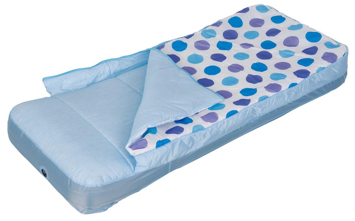 Кровать надувная Relax Air Bed Single With Sleeping Bag, со спальником, 157 см х 66 см х 23 см72523WDСдержанный дизайн и нейтральные цвета подходят к любому интерьеру и делают надувную кровать Relax Air Bed Single With Sleeping Bag отличным выбором для домашнего использования. Кровать проста в использовании, очень комфортная, не занимает много места при хранении.Особенности:- Надувная кровать и спальный мешок могут быть использованы совместно или по отдельности.- Отличный выбор для детей во время путешествия.- Спальник надевается на надувной матрац как натяжная простыня.- Материал внешней стороны спальника: Полиэстер Taffeta 190D водостойкий.- Материал внутренней стороны спальника: Полиэстер Taffeta 190D.- Наполнитель: холлофайбер.- Материал простыни: поликоттон.- Время надувания 2 минуты.