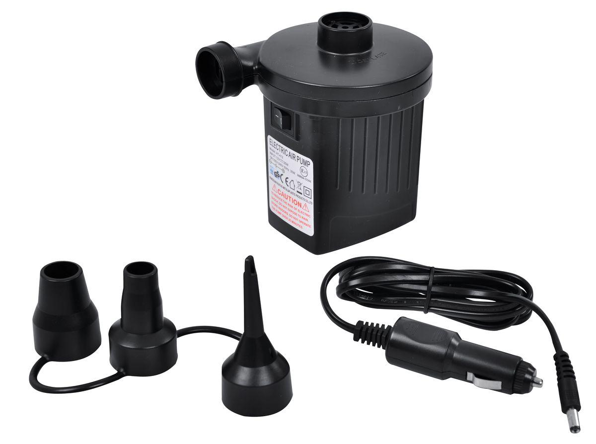 Насос электрический Relax 2-Way Electric Pump, 220B/12BKOCAc6009LEDЭлектрический воздушный насос Relax 2-Way Electric Pump с питанием от сети переменного тока. Быстро надувает и сдувает любые большие надувные изделия. Легкая и портативная конструкция облегчает использование. Питается от электросети или автомобильного прикуривателя.В комплект входят 3 насадки.Давление: 2500 Па.