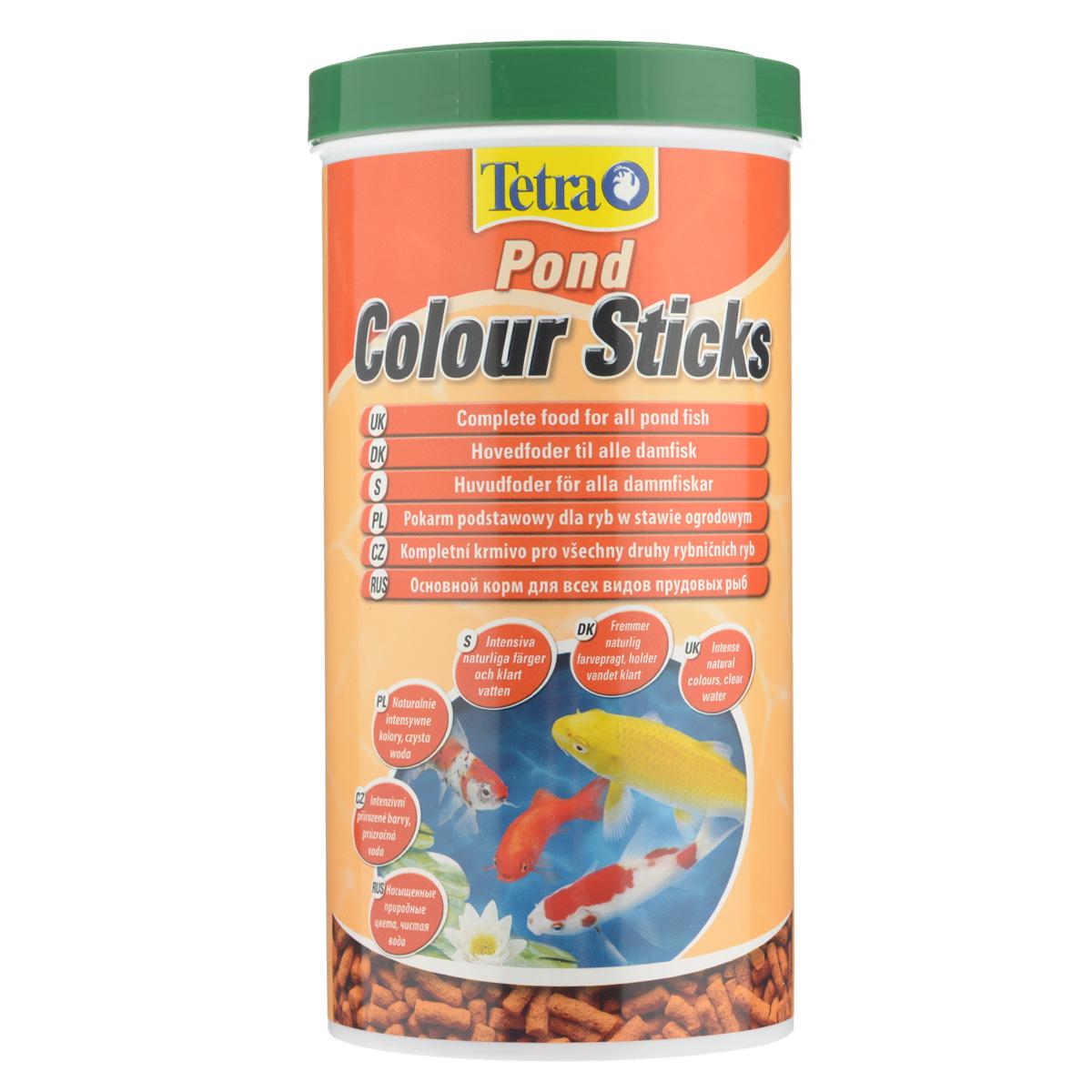 Корм сухой Tetra Pond Color Sticks для всех видов прудовых рыб, в виде гранул, 1 л124394Корм Tetra Pond Color Sticks - это высококачественный корм, который усваивает природные цвета ваших прудовых рыбок. Запатентованная BioActive формула обеспечивает высокую устойчивость к заболеваниям, придает энергию и жизнеспособность.Особенности Tetra Pond Color Sticks:усиливает природную цветную пигментацию,при регулярном питании видимые результаты уже через несколько недель,содержит все не обходимые вещества для биологически сбалансированного питания,высокая устойчивость к заболеваниям,легкий прием и высокая перевариваемость уменьшает степень загрязнения воды и улучшает ее качество. Рекомендации по кормлению: кормите не менее 2-3 раз в день в таком количестве, которое ваши рыбы могут съесть в течение нескольких минут.Характеристики:Состав: зерновые культуры, экстракты растительного белка, растительные продукты, рыба и побочные рыбные продукты, дрожжи, минеральные вещества. Пищевая ценность: сырой белок - 31%, сырые масла и жиры - 5%, сырая клетчатка - 2%, влага - 7%.Добавки: витамины, провитамины и химические вещества с аналогичным воздействием, витамин А 28500 МЕ/кг, витамин Д3 1780 МЕ/кг. Комбинации элементов: Е5 Марганец 80 мг/кг, Е6 Цинк 48 мг/кг, Е1 Железо 31 мг/кг, Е3 Кобальт 0,6 мг/кг. Красители, антиоксиданты.Вес: 1000 мл (175 г).