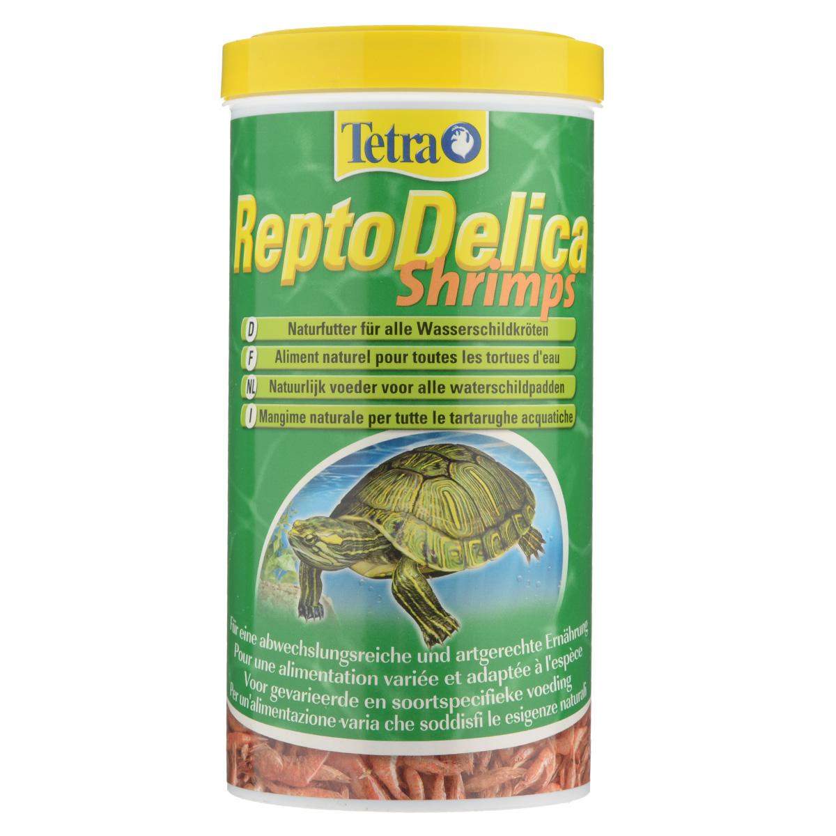 Корм-лакомство для водных черепах Tetra ReptoDelica Shrimps, креветки, 1 л0120710Дополнительный корм-лакомство Tetra ReptoDelica Shrimps для плотоядных черепах. Цельные сублимированные креветки для удовольствия и разнообразия в еде. Богаты минералами - способствуют правильному развитию костей и панциря. Отличная добавка. Рекомендации по кормлению: давайте рептилиям такое количество корма, которое они смогут съесть за короткое время. Через 30 минут удалите из воды несъеденные остатки.Состав: 100 % креветки.Вес: 1000 мл (100 г).Товар сертифицирован.