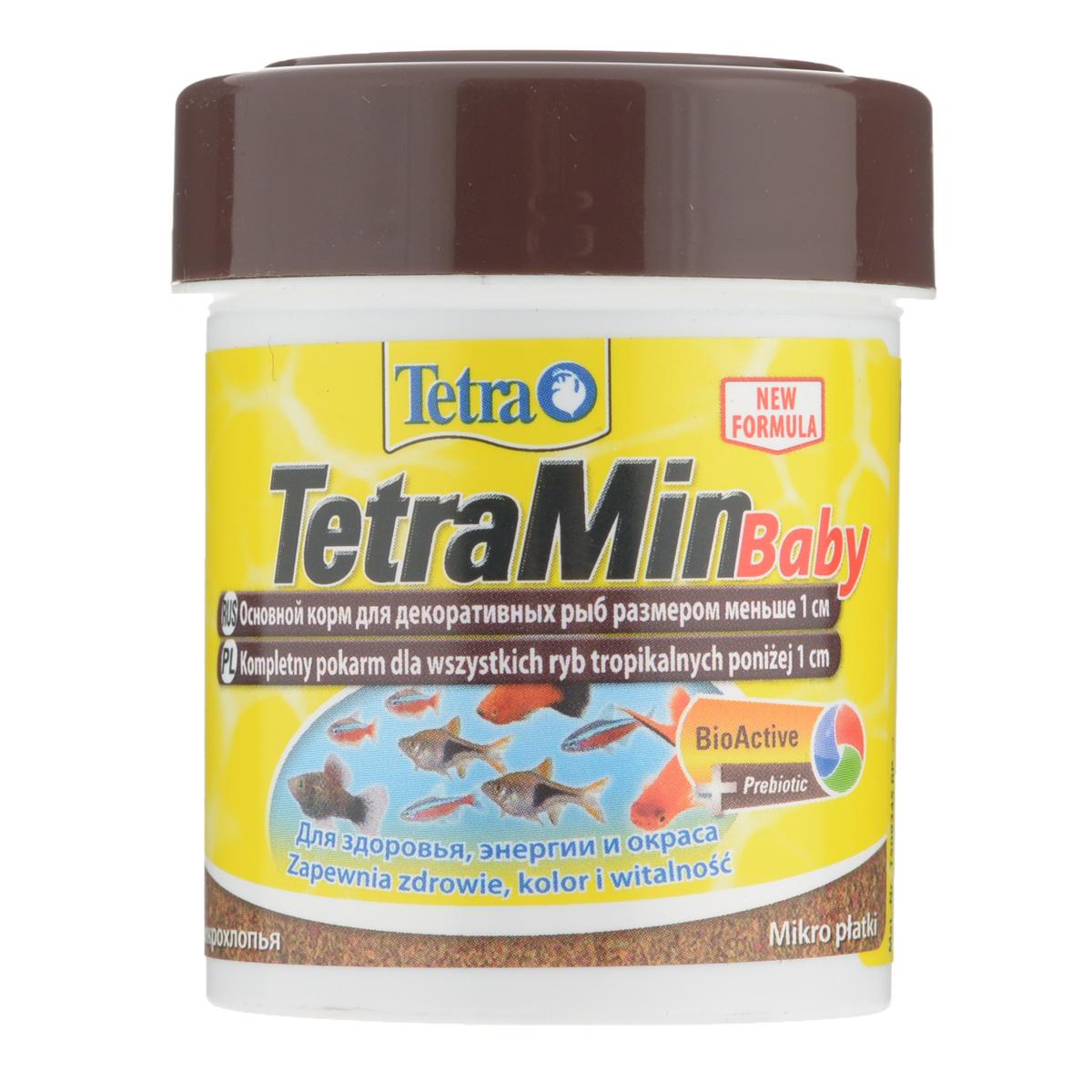 Корм Tetra Min Baby для декоративных рыб меньше 1 см, в виде микрохлопьев, 66 мл0120710Корм Tetra Min Baby - это биологически сбалансированный корм в виде микрохлопьев. Очень качественное просеянная смесь высокопитательных и функциональных ингредиентов для поддержания здорового роста на ранних стадий жизни рыб.Рекомендации по кормлению: кормить несколько раз в день маленькими порциями. Характеристики: Состав: рыба и побочные рыбные продукты, зерновые культуры, дрожжи, экстракты растительного белка, моллюски и раки, масла и жиры, сахар (Олигофруктоза 1%), минеральные вещества, водоросли.Пищевая ценность: сырой белок - 46%, сырые масла и жиры - 11%, сырая клетчатка - 2,0%, влага - 6%.Добавки: витамины, провитамины и химические вещества с аналогичным воздействием: витамин А 17310 МЕ/кг, витамин Д3 1080 МЕ/кг. Комбинации элементов: Е5 Марганец 96 мг/кг, Е6 Цинк 57 мг/кг, Е1 Железо 37 мг/кг. Красители, антиоксиданты. Вес: 66 мл (30 г).Товар сертифицирован.