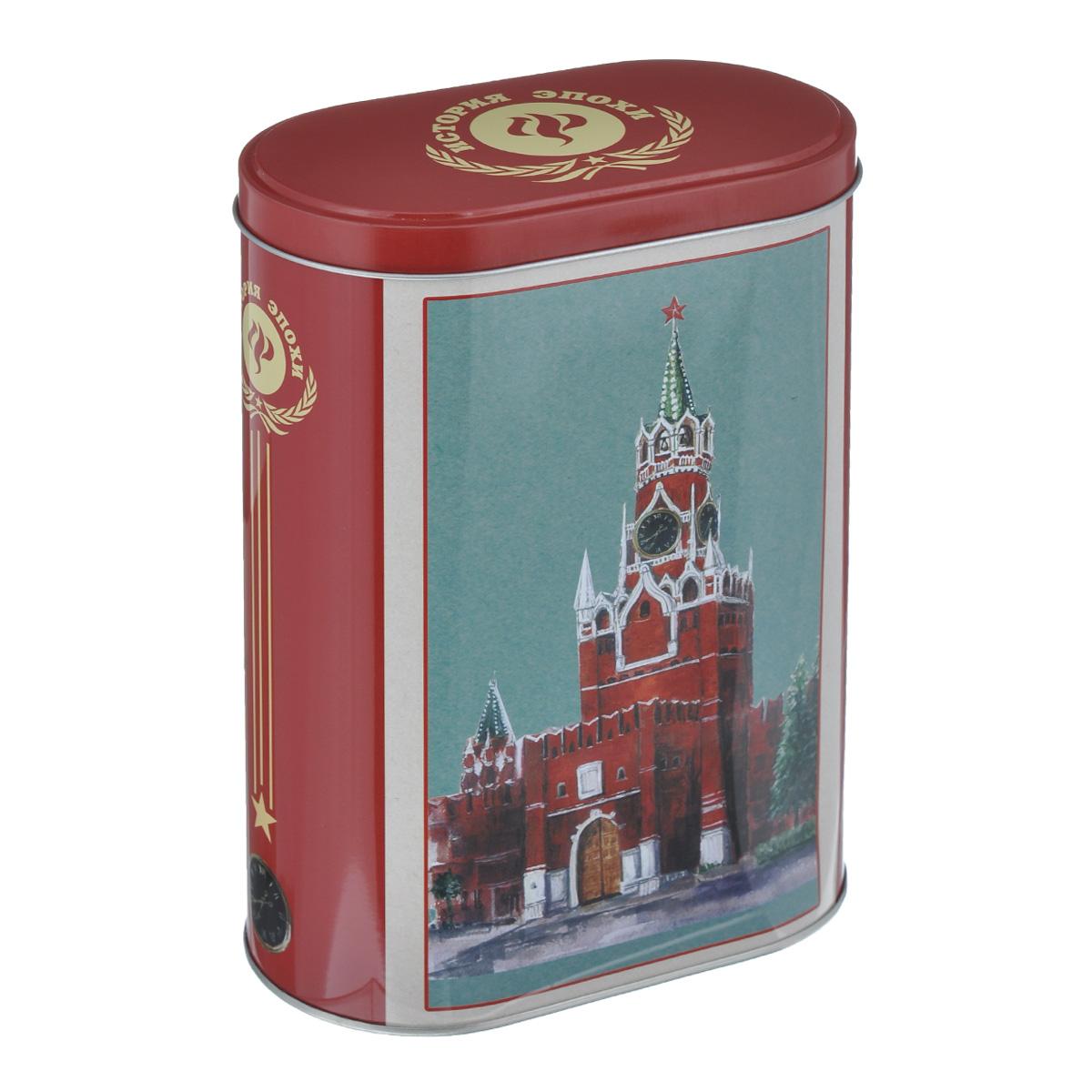Банка для сыпучих продуктов Феникс-презент Кремль, 1,5 л37653Банка для сыпучих продуктов Феникс-презент Кремль, изготовленная из металла, декорирована изображением Московского Кремля. Банка оснащена плотно закрывающейся крышкой с откидным механизмом. Благодаря этому внутри сохраняется герметичность, и продукты дольше остаются свежими. Изделие предназначено для хранения различных сыпучих продуктов: круп, чая, сахара, орехов и многого другого. Функциональная и вместительная, такая банка станет незаменимым аксессуаром на любой кухне. Нельзя мыть в посудомоечной машине. Объем: 1,5 л.Размер (по верхнему краю): 13,5 см х 7,5 см.Высота банки (без учета крышки): 19 см.