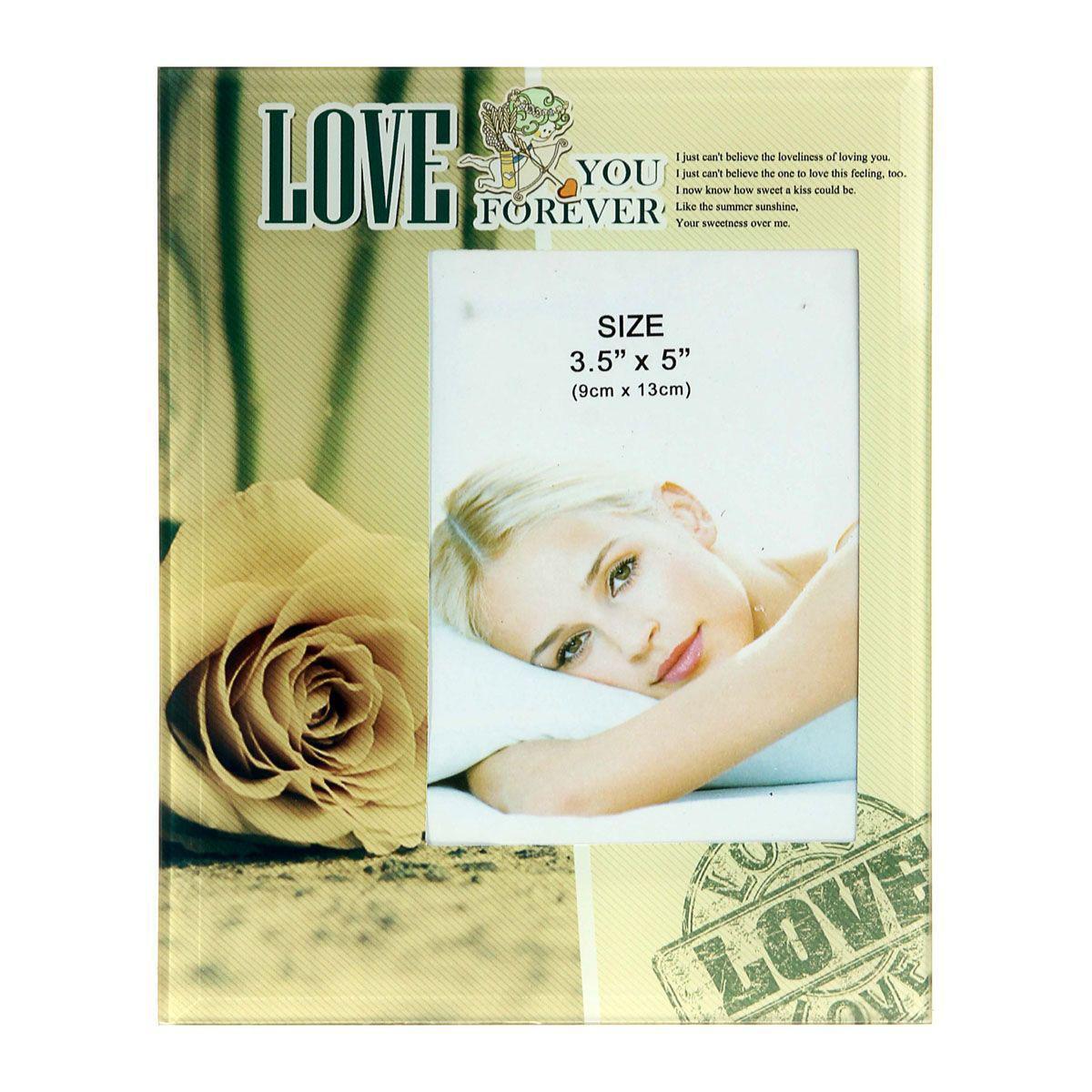 Фоторамка Sima-land Желтая роза Love, 9 х 13 см240084Фоторамка Sima-land Желтая роза Love прекрасный выбор для тех, кто хочет сделать запоминающийся презент родным и близким. Поможет создать атмосферу праздника. Такой подарок запомнится надолго. В нем прекрасно сочетаются цена и качество.