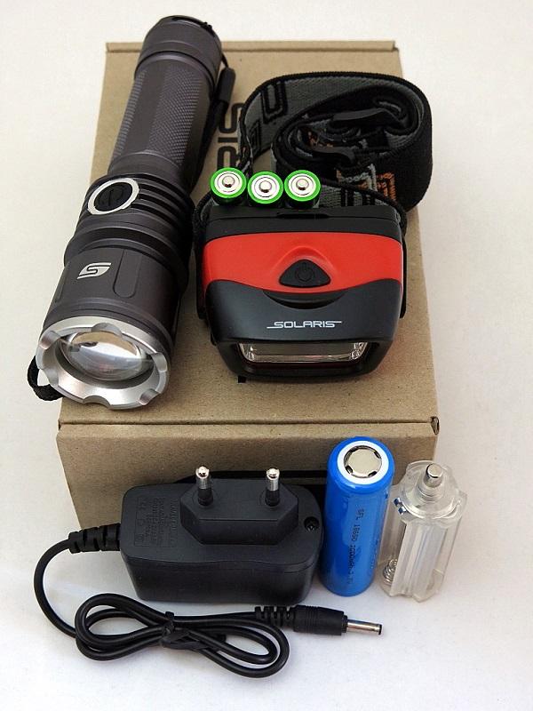 Набор фонарей SOLARIS Kit FZ-50/L20 с комплектацией фонари solaris оранжевый налобный фонарь
