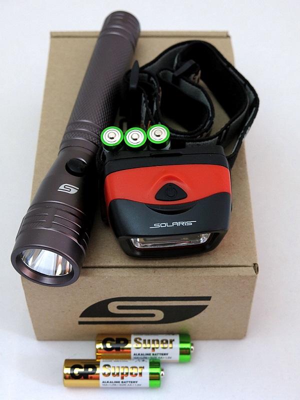 Набор фонарей SOLARIS Kit F-10/L20 с комплектацией фонари solaris оранжевый налобный фонарь
