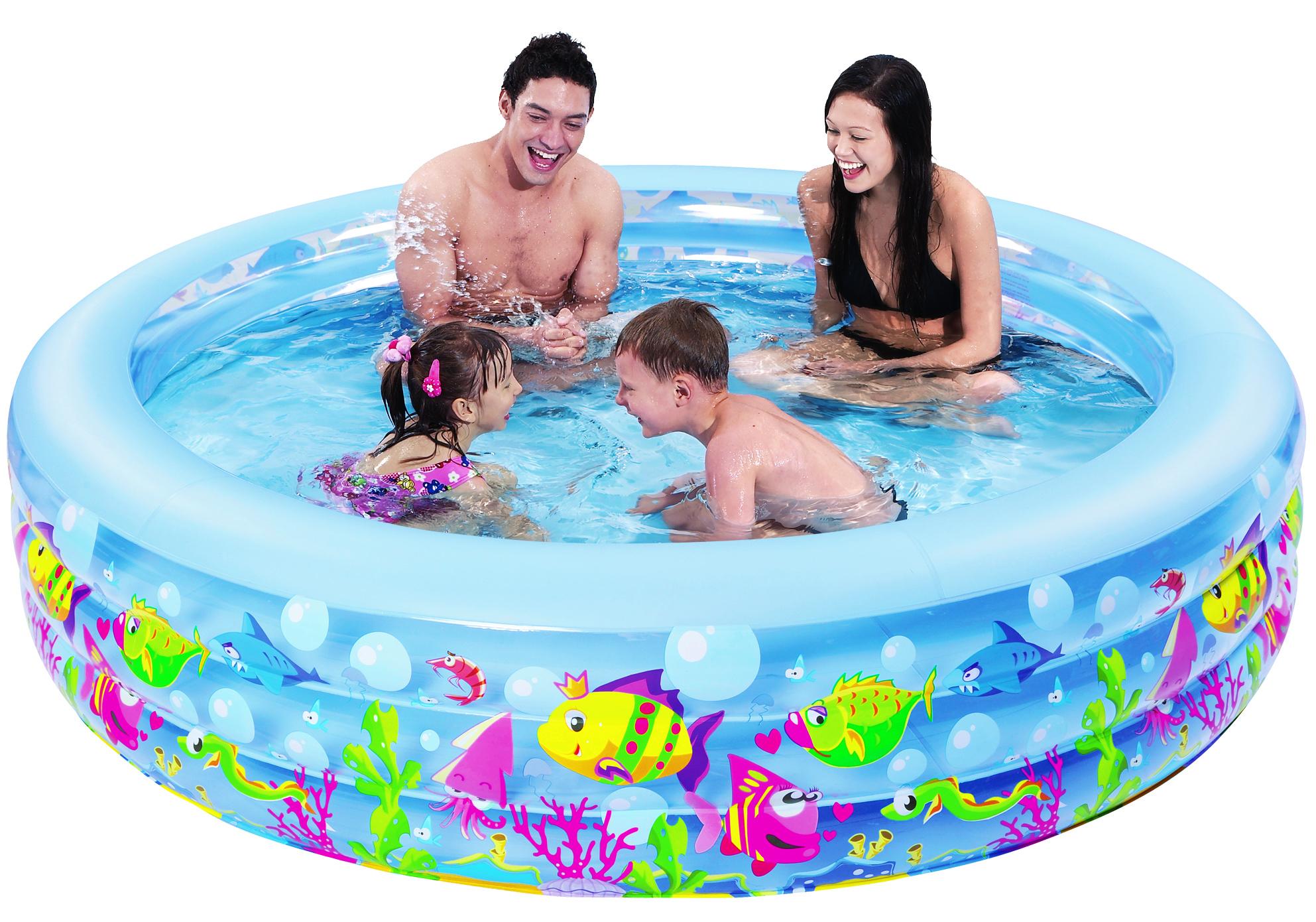 Бассейн надувной Jilong Aquarium, 185 см x 50 смC0038552Круглый надувной бассейн Jilong Aquarium предназначен для детского и семейного отдыха на загородном участке. Отлично подойдет для детей от 6 лет. Бассейн изготовлен из прочного ПВХ. Оснащен удобной сливной пробкой.Комфортный дизайн бассейна и приятная цветовая гамма сделают его не только незаменимым атрибутом летнего отдыха, но и оригинальным дополнением ландшафтного дизайна участка. В комплект с бассейном входит заплатка для ремонта в случае прокола.