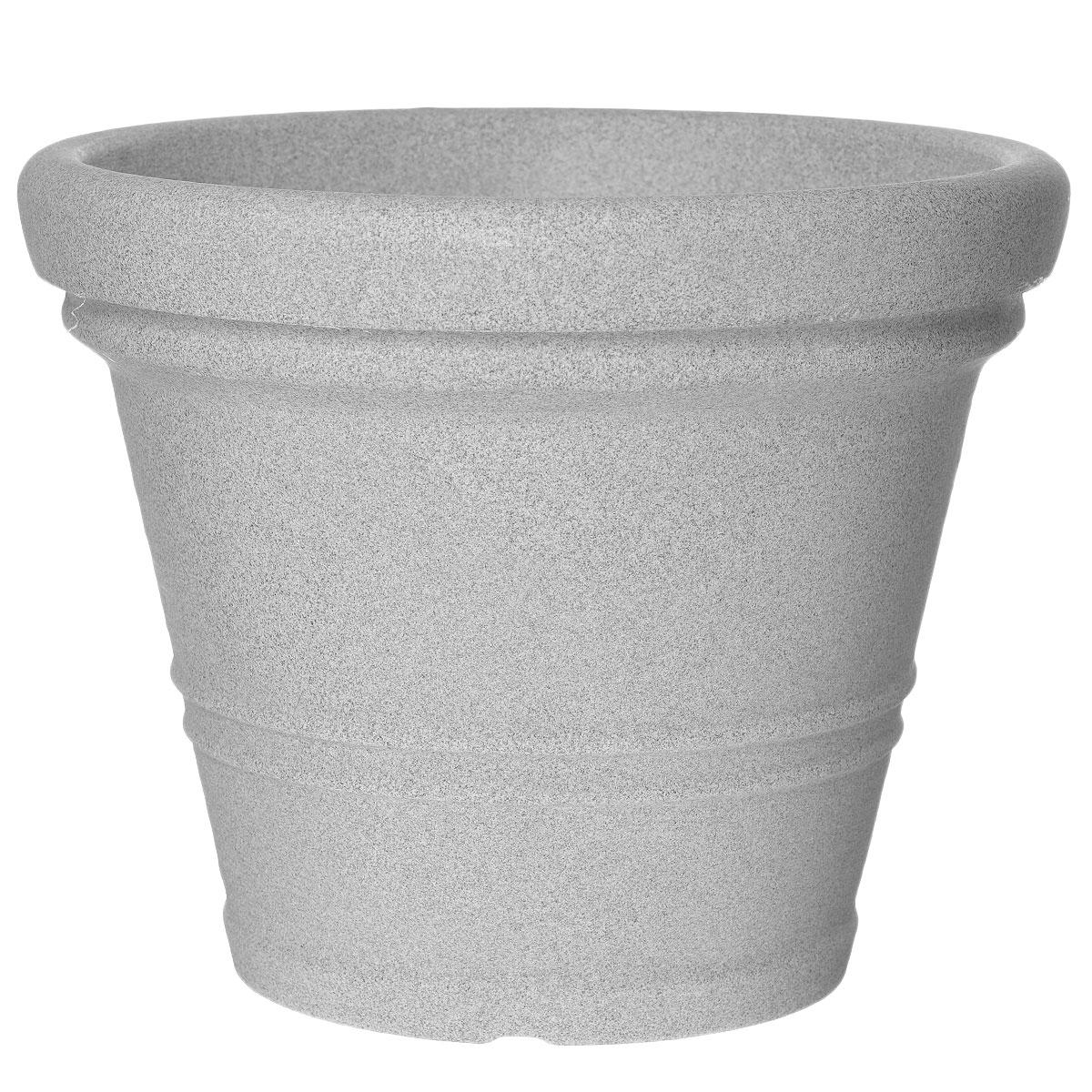 Кашпо для цветов Scheurich, цвет: светло-серый, диаметр 45 смZ-0307Кашпо для цветов Scheurich выполнено из прочного пластика. Изделие предназначено для установки внутрь цветочных горшков с растениями.Такие изделия часто становятся последним штрихом, который совершенно изменяет интерьер помещения или ландшафтный дизайн сада. Благодаря такому кашпо вы сможете украсить вашу комнату, офис, сад и другие места.Диаметр: 45 см.