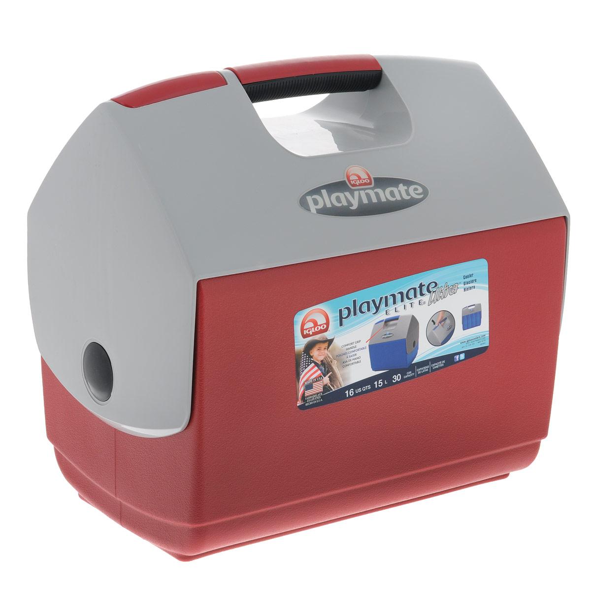 Изотермический контейнер Igloo Playmate Elite Ultra, цвет: красный, 15 л96281496Легкий и прочный изотермический контейнер Igloo Playmate Elite Ultra, изготовленный из высококачественного пластика, предназначен для транспортировки и хранения продуктов и напитков. Для поддержания низкой температуры необходимо использовать с аккумуляторами холода.Особенности изотермического контейнера Igloo Playmate Elite Ultra: - Оригинальный замок на верхней крышки Playmate-Realise для открывания одной рукой;- Крышка распахивается, обеспечивая легкий доступ к содержимому; - Фирменный дизайн Playmate; - Защелка надежно фиксирует крышку; - UltraTherm изоляция корпуса и крышки сохраняет содержимое холодным; - Эргономичный гладкий дизайн корпуса;- Экологически чистые материалы. Размер контейнера: 38 см х 25 см х 36 см.Объем контейнера: 15 л.