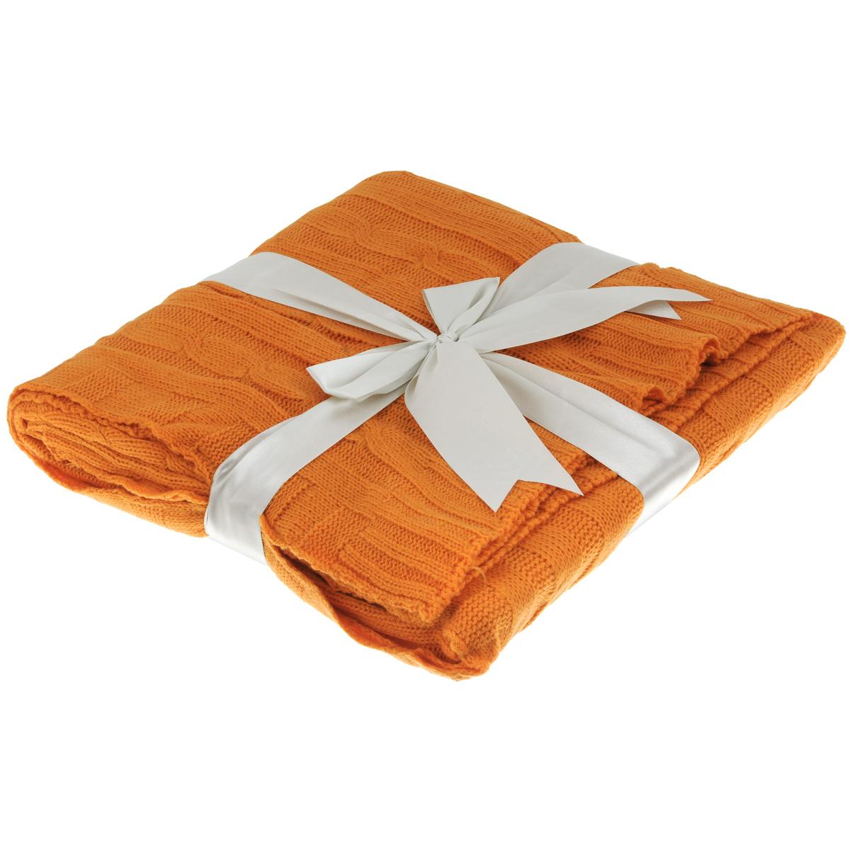 Плед Mona Liza Classic Monet, цвет: оранжевый, 140 х 180 смWUB 5647 weisОригинальный вязаный плед Mona Liza Classic Monet послужит теплым, мягким и практичным подарком близким людям. Плед изготовлен из высококачественного 100% акрила.Яркий и приятный на ощупь плед Mona Liza Classic Monet станет отличным дополнением в вашем интерьере.