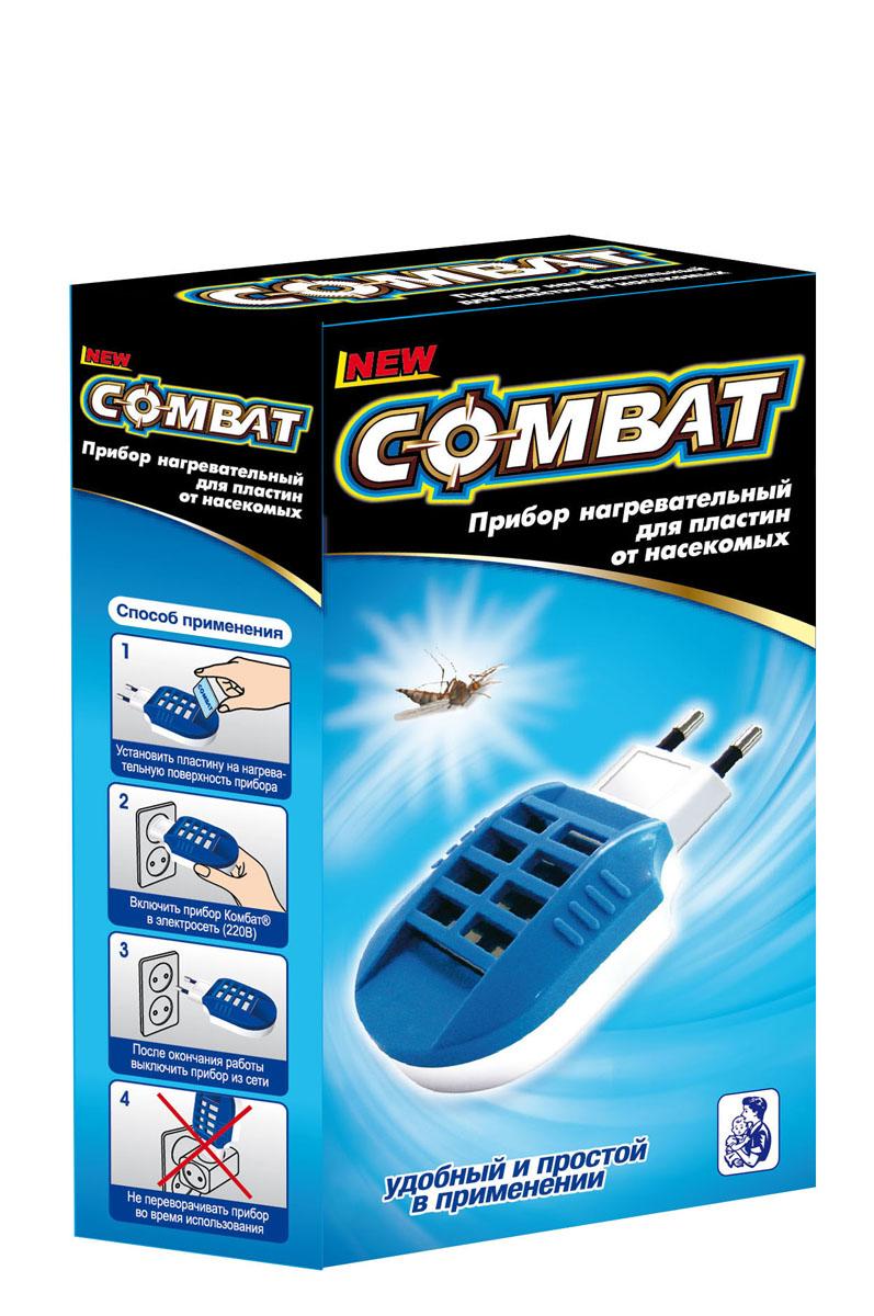 Фумигатор для пластин от комаров Combat, цвет: синий9103500790Фумигатор для пластин Combat удобен и прост в применении. Компактный, работает от сети 220В. Прибор с пластиной начинает действовать через 5-10 минут после включения, полное уничтожение насекомых достигается через 1 час.Прибор безопасен для всей семьи.Размер прибора: 11 см х 5,5 см х 2,5 см.
