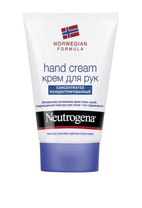 Крем для рук Neutrogena, с запахом, 50 мл4751006755437Крем Neutrogena великолепно увлажняет руки благодаря рекордно высокому содержанию глицерина на уровне 40%. Клинические исследования подтверждают, что крем мгновенно помогает сухой, очень сухой и поврежденной коже рук. Заметно улучшает внешний вид кожи, восстанавливает ее защитный барьер.Благодаря концентрированной формуле небольшого количества крема достаточно, чтобы кожа рук стала мягче уже с первого применения. Характеристики: Объем: 50 мл. Производитель: Испания. Товар сертифицирован. Марка Neutrogena - признанный эксперт в области очищения кожи. Все средства Neutrogena рекомендованы Российской ассоциацией дерматологов и обеспечивают комплексный уход за кожей в зависимости от ваших индивидуальных потребностей.