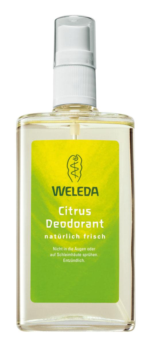 Weleda Дезодорант цитрусовый 100мл26102025Цитрусовый дезодорант Weleda подарит вам бодрящее ощущение фруктового лимонного бриза. Натуральные цитрусовые эфирные масла оказывают мягкое дезодорирующее действие и создают приятное ощущение свежести и хорошего самочувствия.100% натуральный дезодорант естественным способом предотвращает появление неприятного запаха, не закупоривая поры и не нарушая естественных функций кожи. ? Действует исключительно благодаря природным компонентам? Эффективность и переносимость кожей подтверждены дерматологическими тестами? Не содержит синтетических ароматизаторов, красителей и консервантов.? Не содержит алюминия и фталатов.? Во время производства не проводились опыты на животных? Не содержит ароматов животного происхожденияСпособ применения: распылять дезодорант на растоянии 10-15 см на сухую и чистую кожу под мышками. При необходимости в течение дня можно повторить применение. Избегать попадания в глаза и на слизистые оболочки.Воспламеняющийся