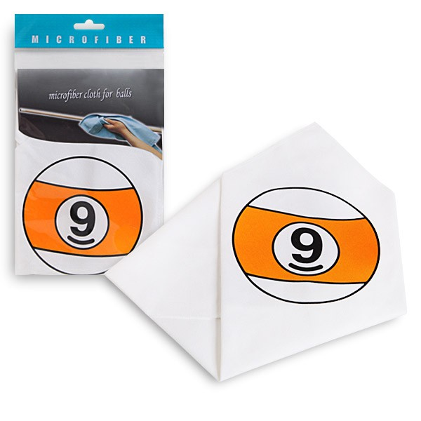 Салфетка для чистки и полировки Fortuna Шар №9, микрофибра3146Салфетка белого цвета Fortuna из микрофибры с изображением шара №9 для чистки и полировки. Каждая салфетка имеет индивидуальную упаковку - пластиковый пакет. Размер салфетки - 34 x 34 см.