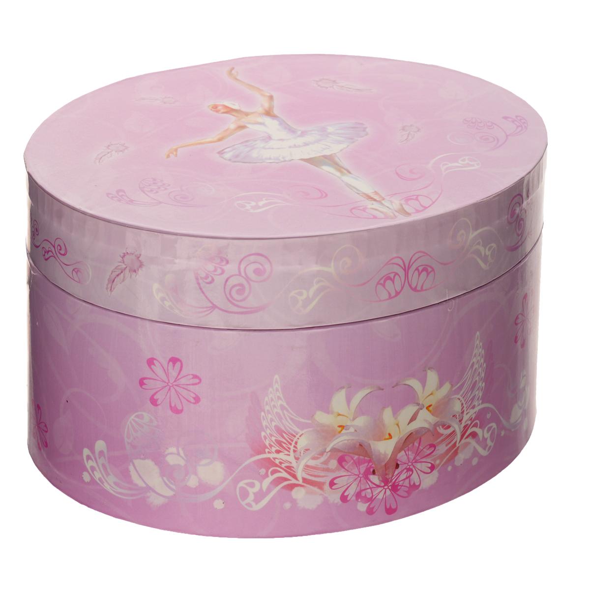 Музыкальная шкатулка Jakos Балерина, цвет: розовый jakos маленькая музыкальная шкатулка в форме цветка
