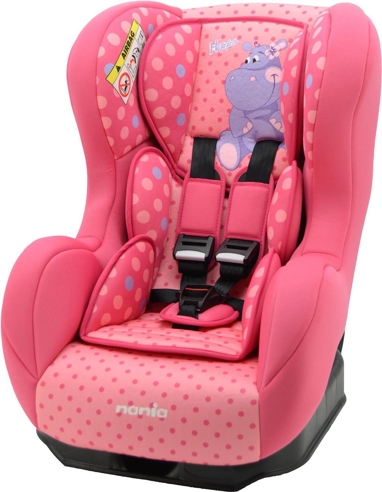 Автокресло Nania Cosmo SP гр. 0-1 HippoVCA-00Автокресло Nania Cosmo SP – стильное и безопасное. Модель входит в группу 0-1 и предназначено для перевозки малышей от рождения до 4 лет (0-18 кг). Кресло размещается на заднем сидении автомобиля по ходу движения. Корпус автокресла создан с учетом требований по эргономике и имеет приятную на ощупь обивку. Боковая поддержка и регулируемый по высоте подголовник надежно защищают ребенка от боковых ударов, не доставляя при этом дискомфорта. Спинка кресла регулируется по углу наклона. Пользуясь автокреслом Nania Cosmo SP, вы будете приятно удивлены его комфортабельностью и легкостью в использовании. Автокресло Nania Cosmo SP обеспечит ребенку максимально безопасные и комфортные поездки на автомобиле.