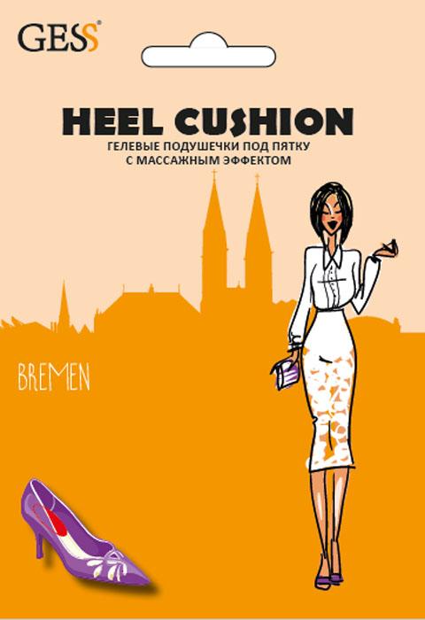 Gess Гелевые подушечки под пятку с массажным эффектом Heel CushionGESS-004