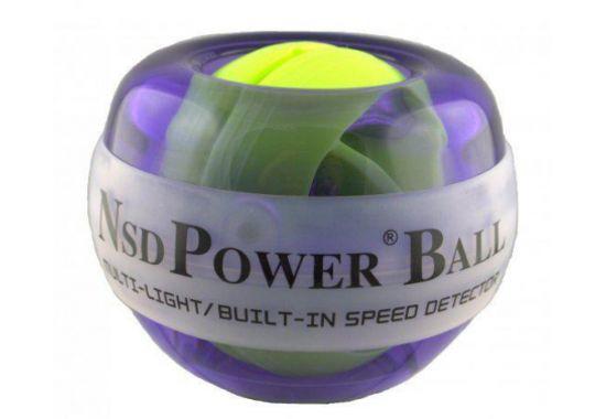 Тренажер кистевой NSD Power Powerball 250 Hz Multi Light, цвет: фиолетовый тренажер кистевой powerball 250 hz neon pb 688l green