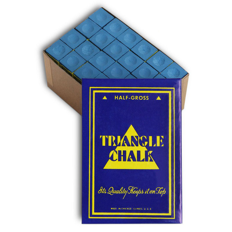 Мел для бильярда Tweeten  Triangle Blue , 72 шт - Бильярд